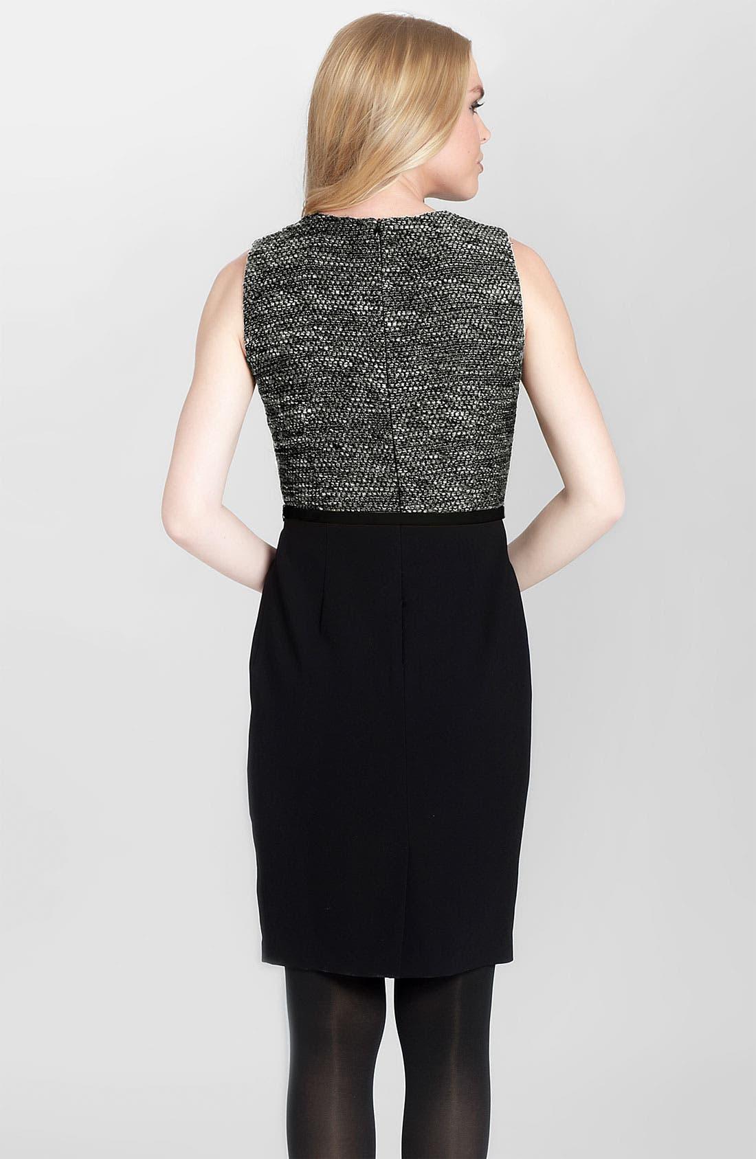 Alternate Image 2  - Cynthia Steffe 'Calista' Tweed Bodice Sheath Dress