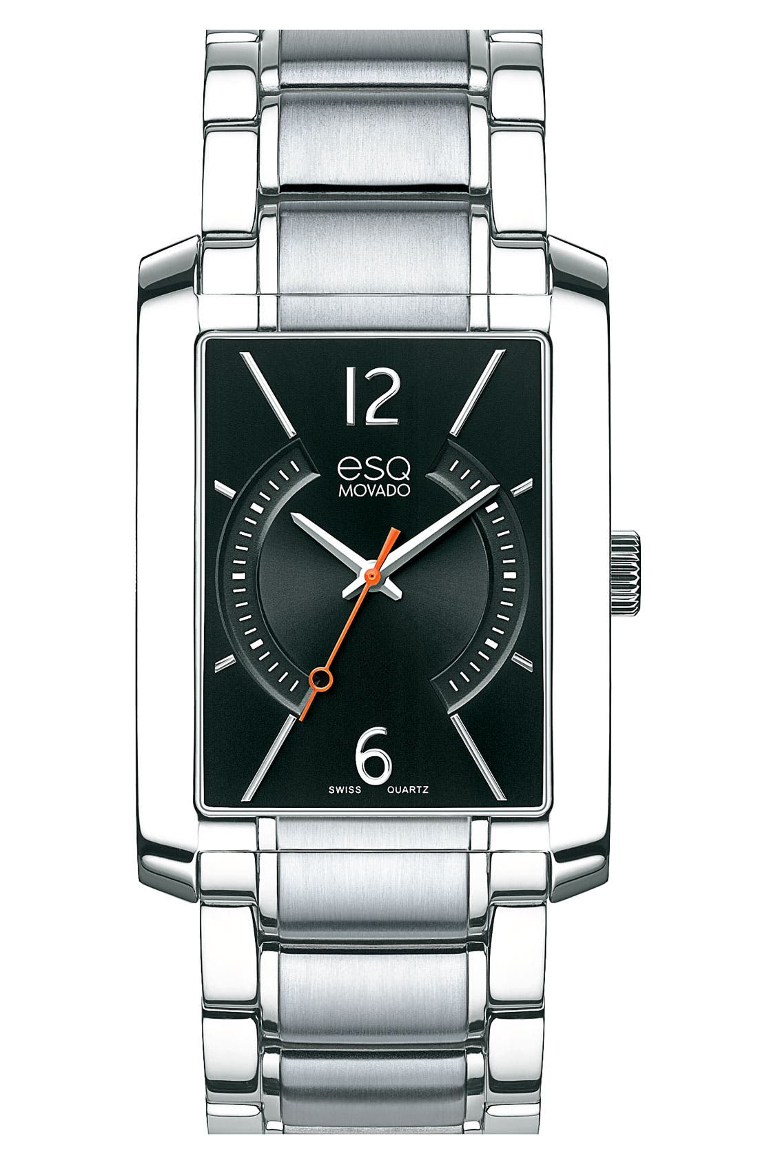 Alternate Image 1 Selected - ESQ Movado 'Synthesis' Rectangular Bracelet Watch, 30mm x 44mm