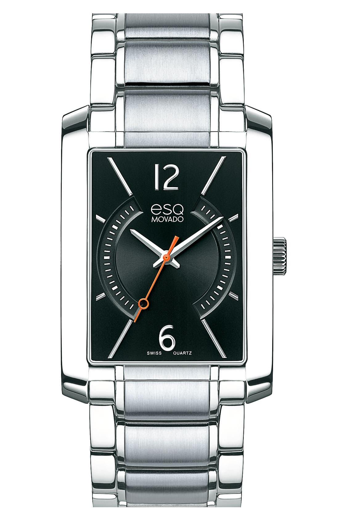 Main Image - ESQ Movado 'Synthesis' Rectangular Bracelet Watch, 30mm x 44mm