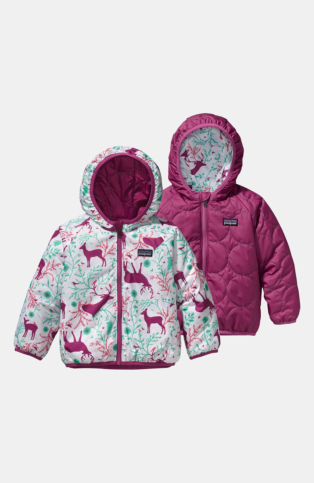 Alternate Image 1 Selected - Patagonia Reversible Hooded Jacket (Infant)