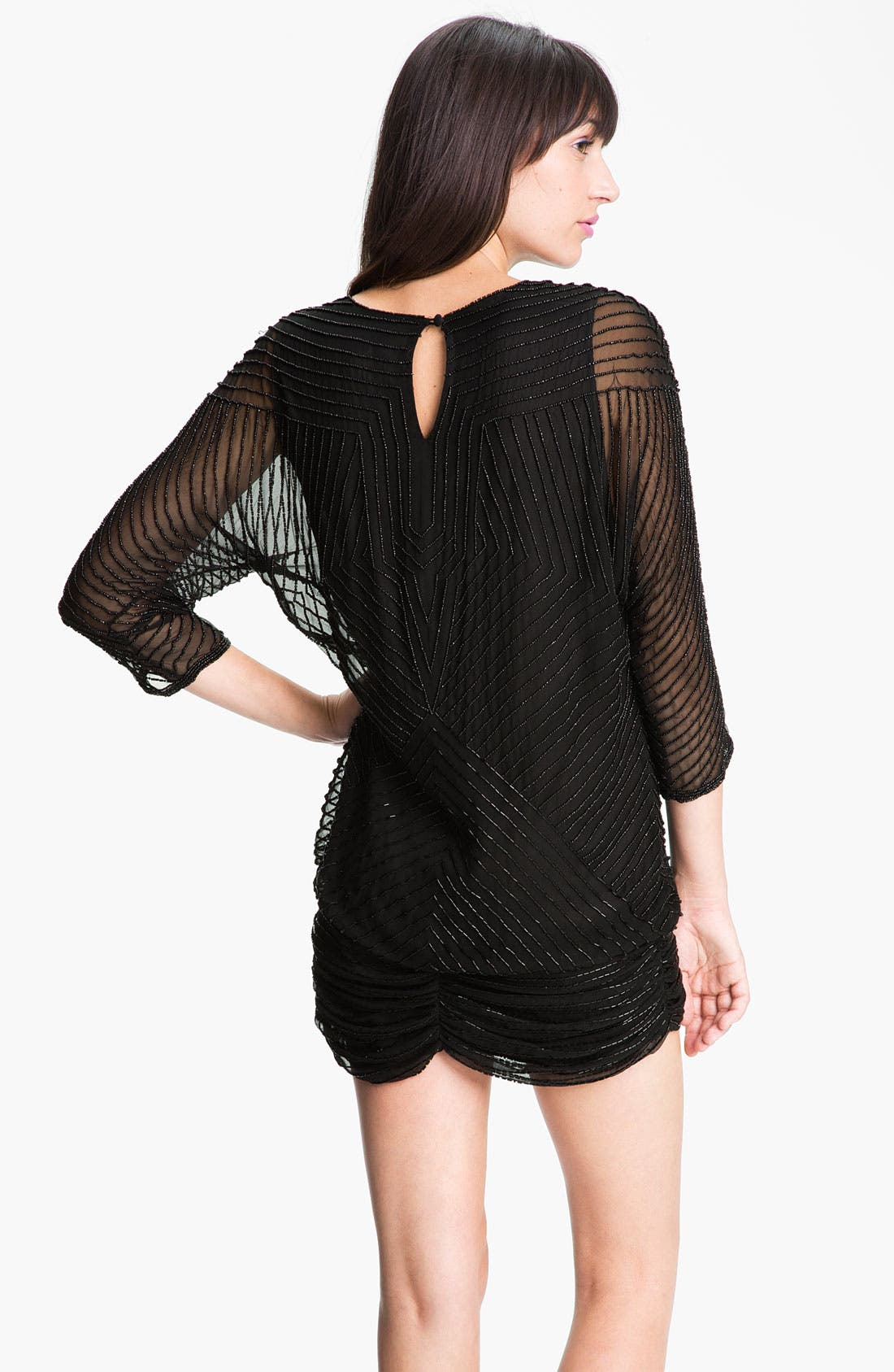 Alternate Image 2  - Parker Beaded Silk Dress
