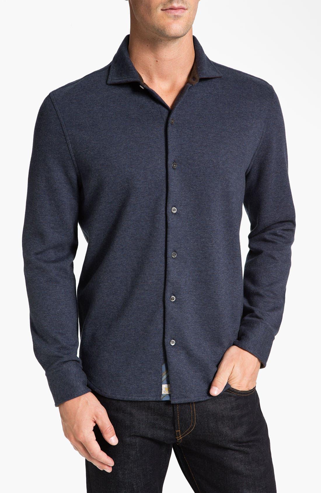 Regular Fit Sport Shirt,                         Main,                         color, Indigo