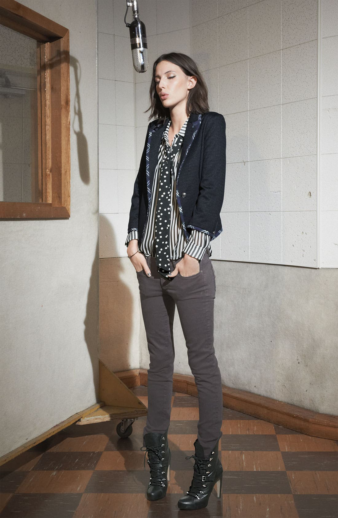 Alternate Image 4  - Paige Denim 'Skyline' Skinny Jeans (Storm)