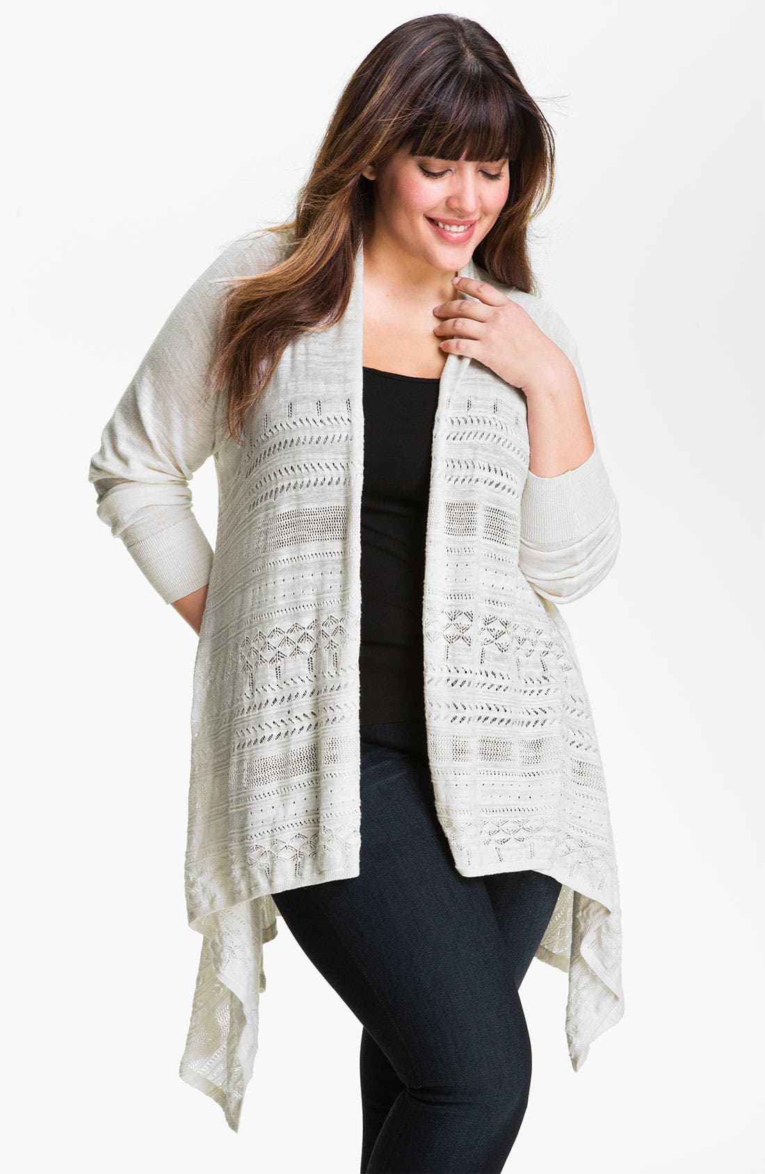 Alternate Image 1 Selected - Lucky Brand Pointelle Wrap (Plus)