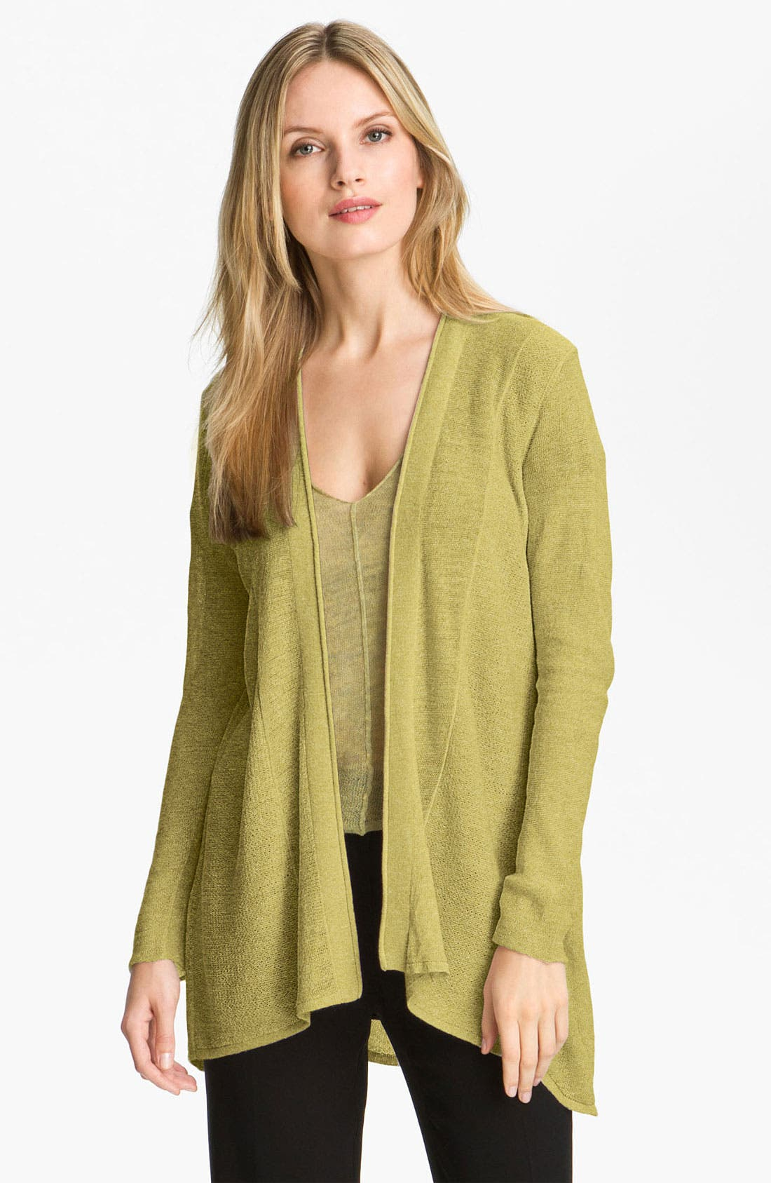 Main Image - Eileen Fisher Wool Long Cardigan
