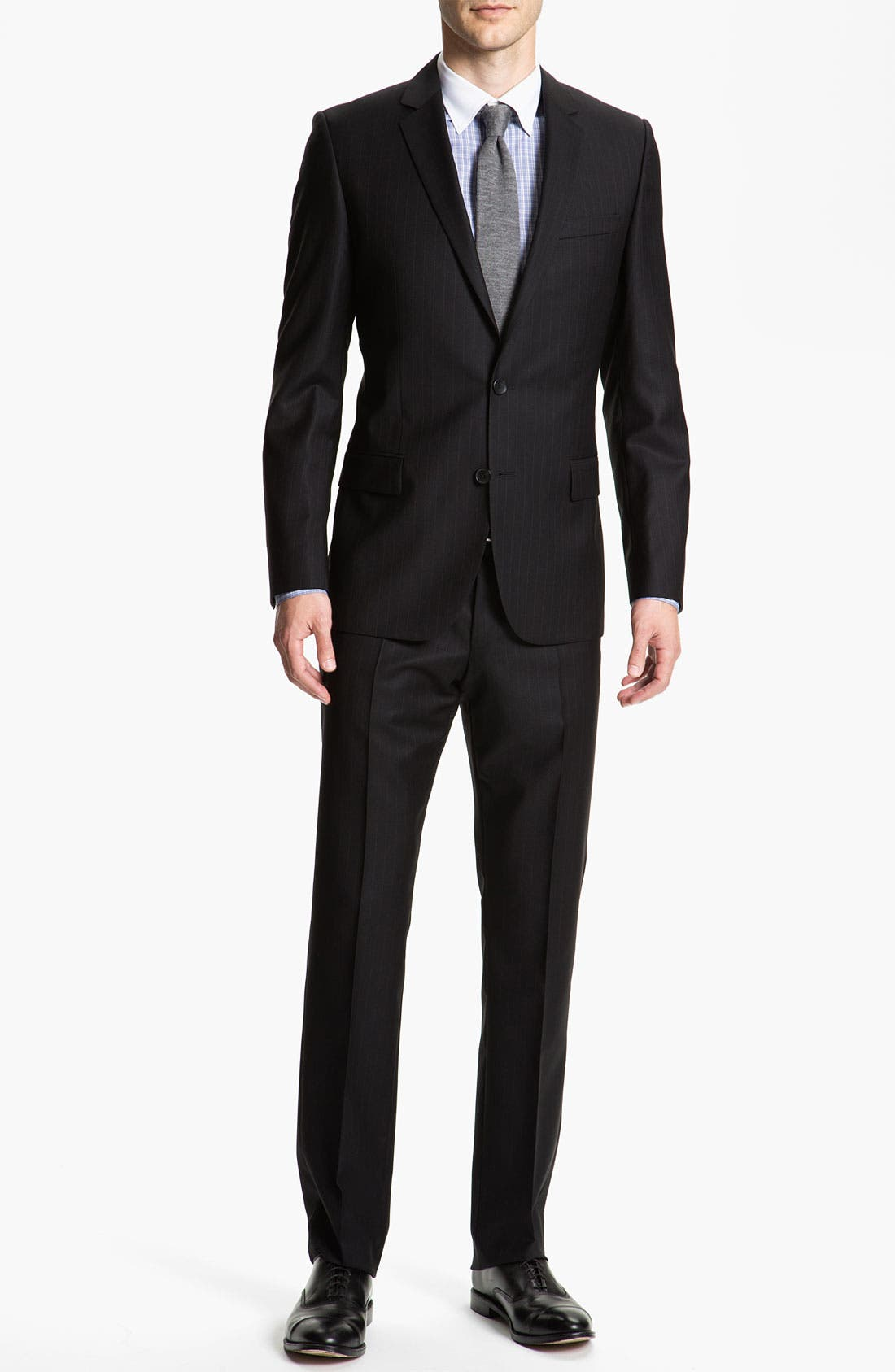 Alternate Image 2  - HUGO 'Amaro/Heise' Trim Fit Stripe Suit