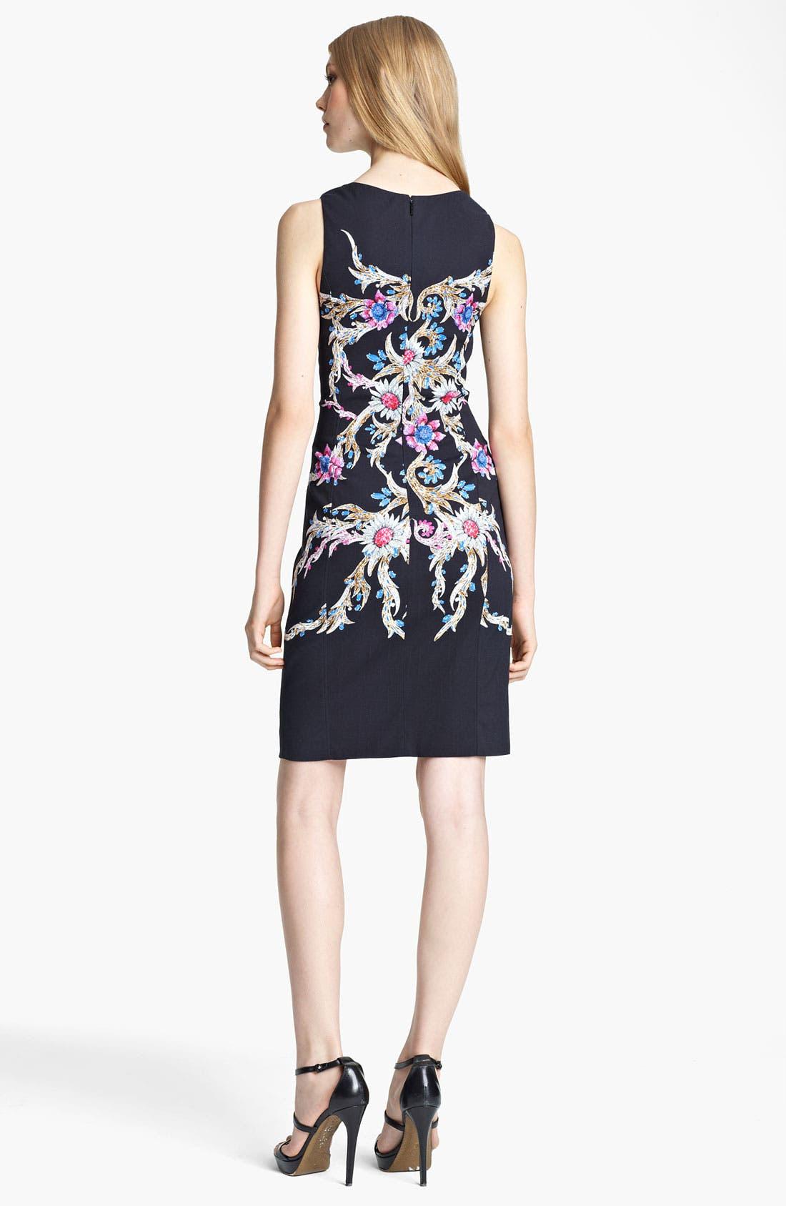Alternate Image 2  - Roberto Cavalli Print Square Neck Dress