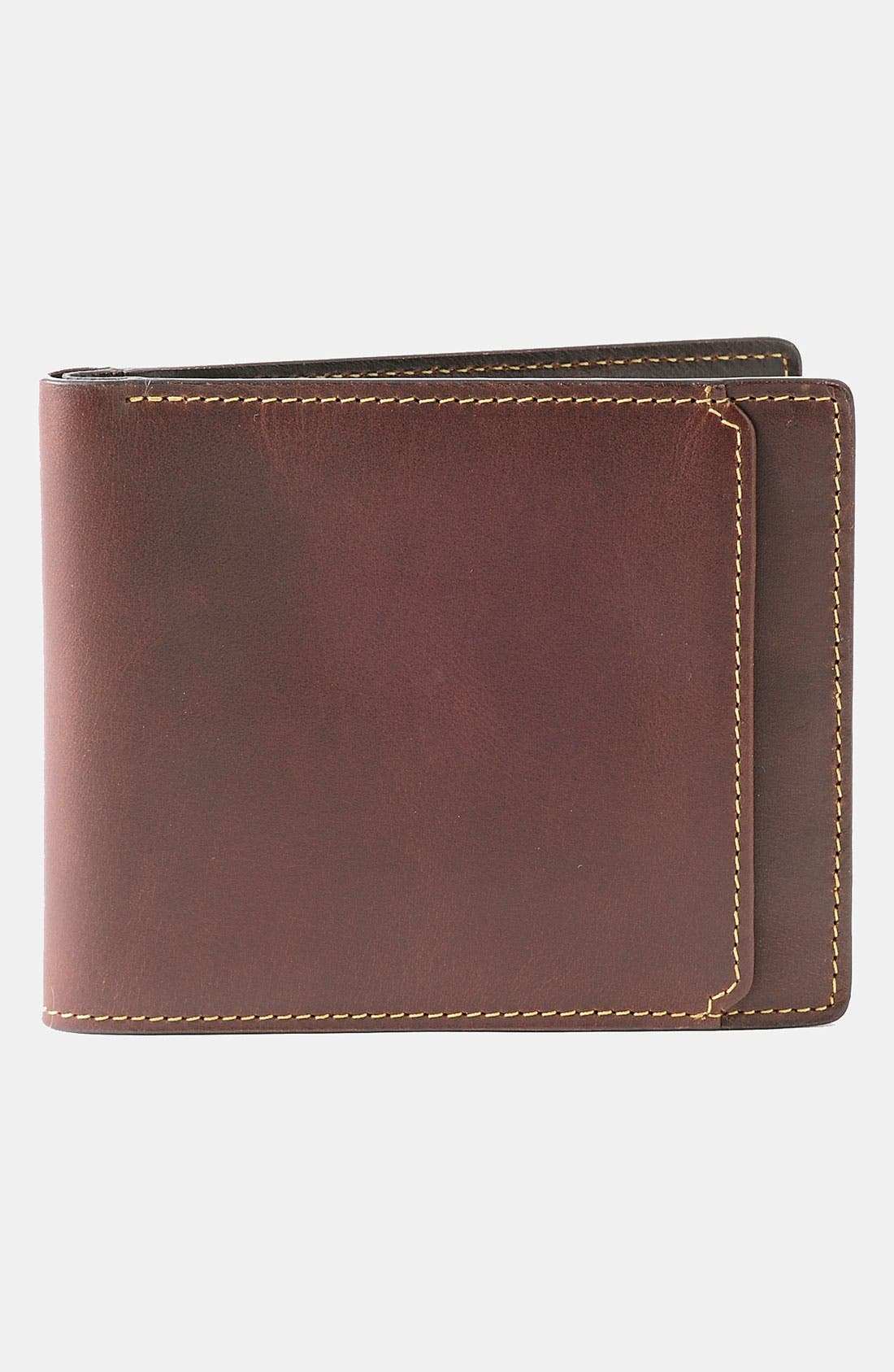 'Bryant' RFID Blocker Slimfold Wallet,                         Main,                         color, Antique Mahogany