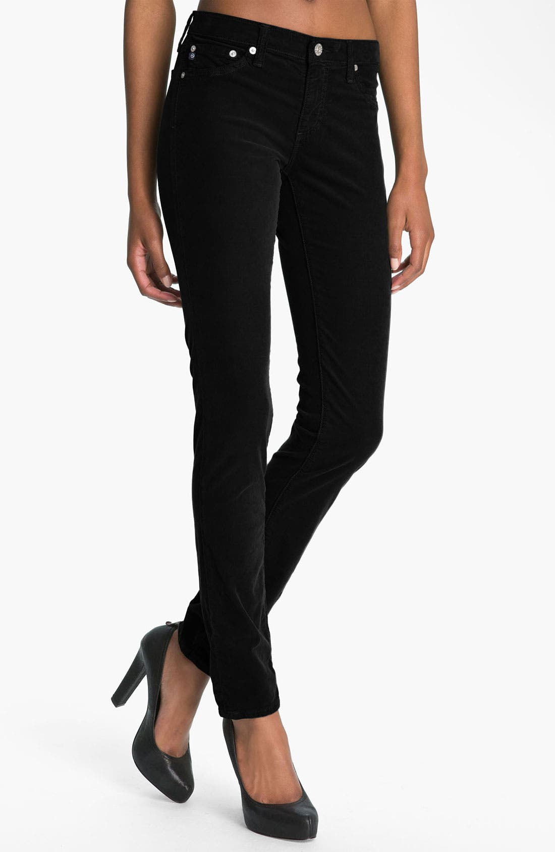 Alternate Image 1 Selected - AG The Legging Super Skinny Corduroy Pants