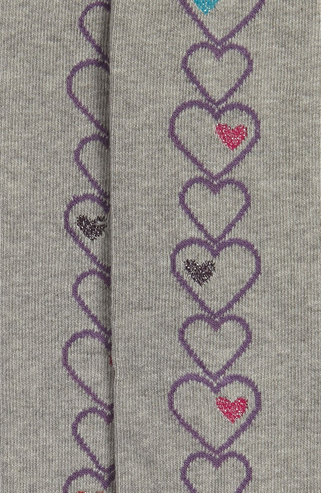 Alternate Image 2  - Nordstrom 'Linear Hearts' Leg Warmers (Little Girls)