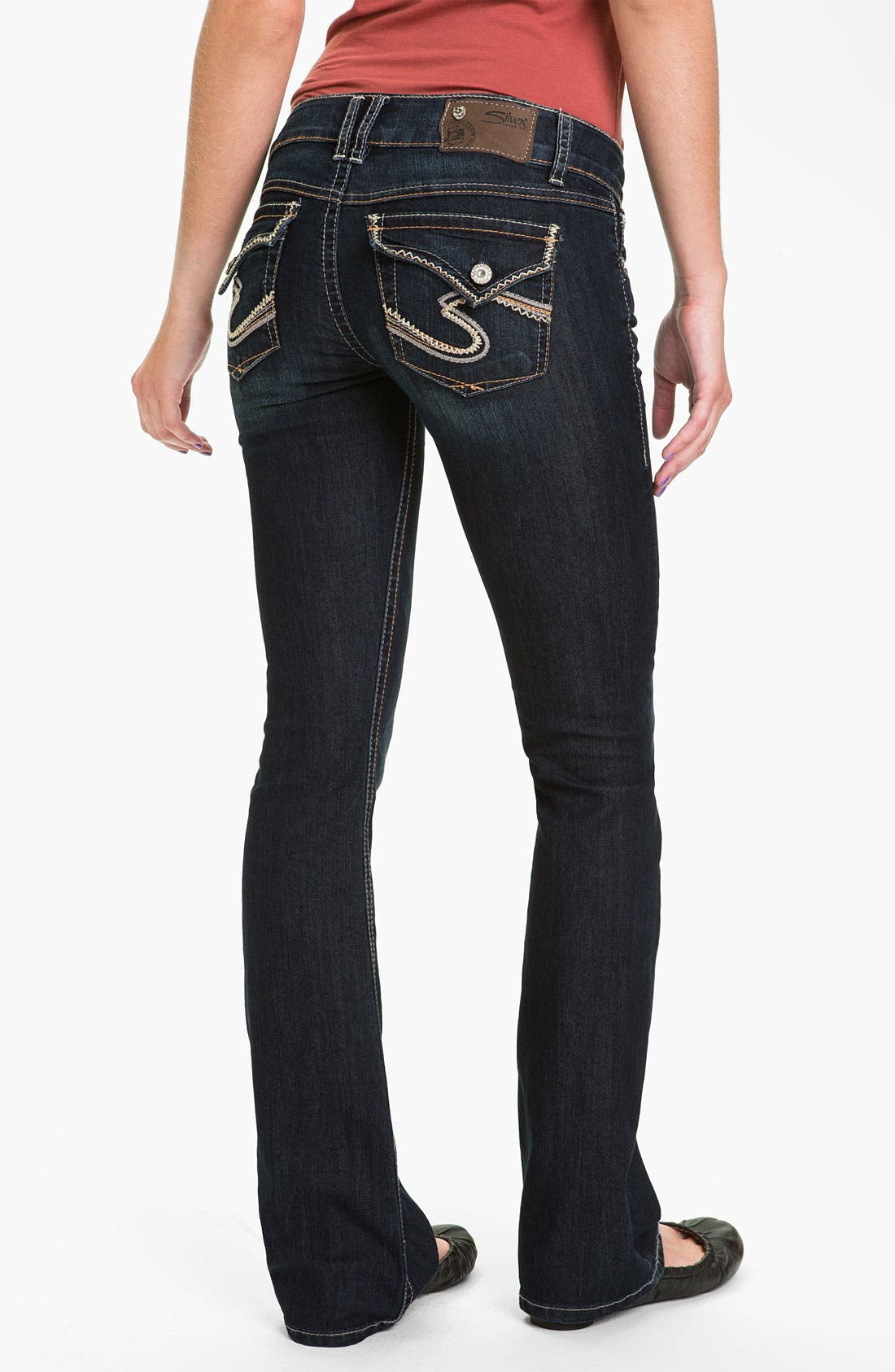 Alternate Image 1 Selected - Silver Jeans Co. 'Dawson' Flare Leg Jeans (Juniors)