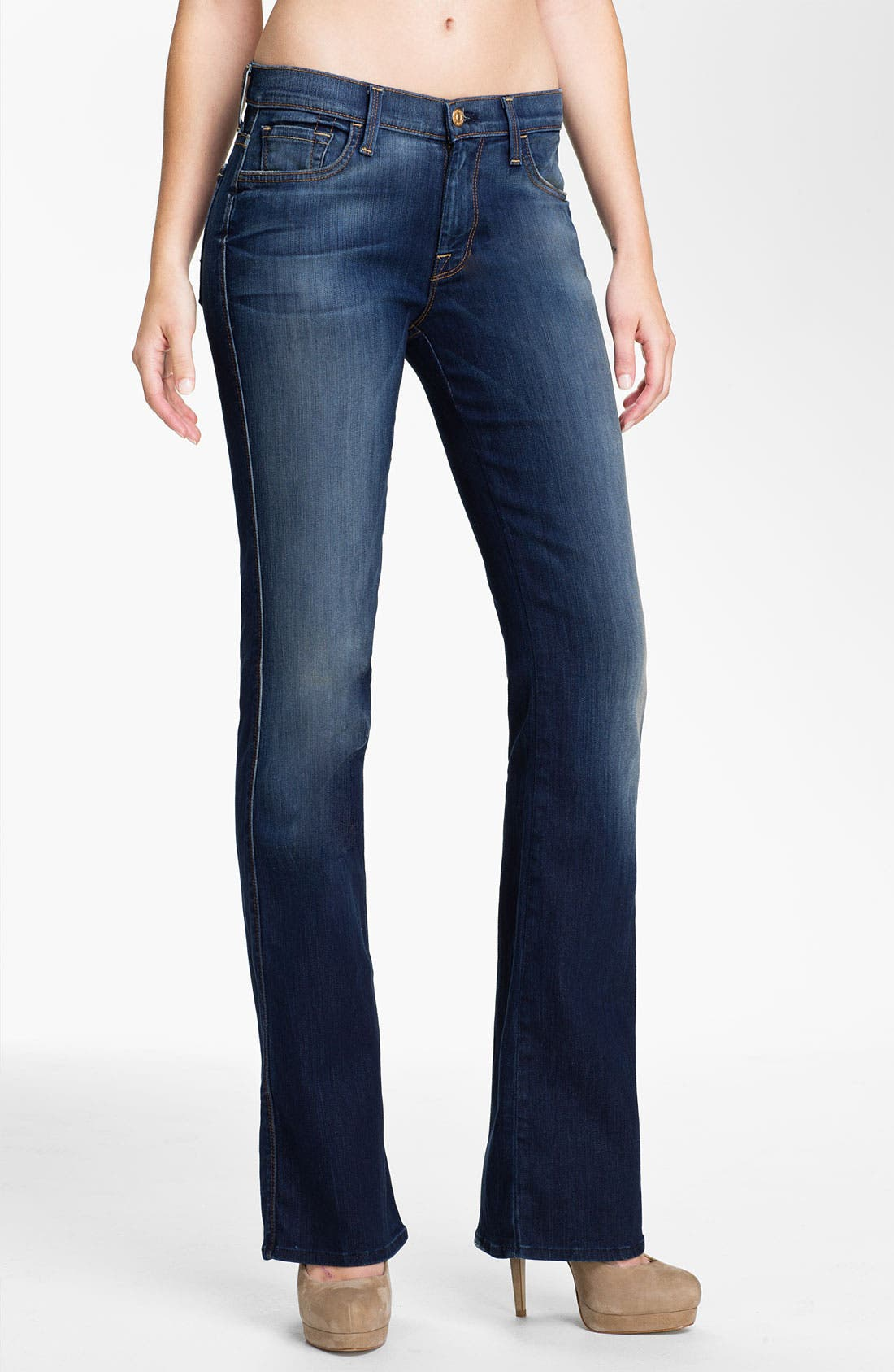 Main Image - 7 For All Mankind® Bootcut Stretch Jeans (Aggressive Siren)