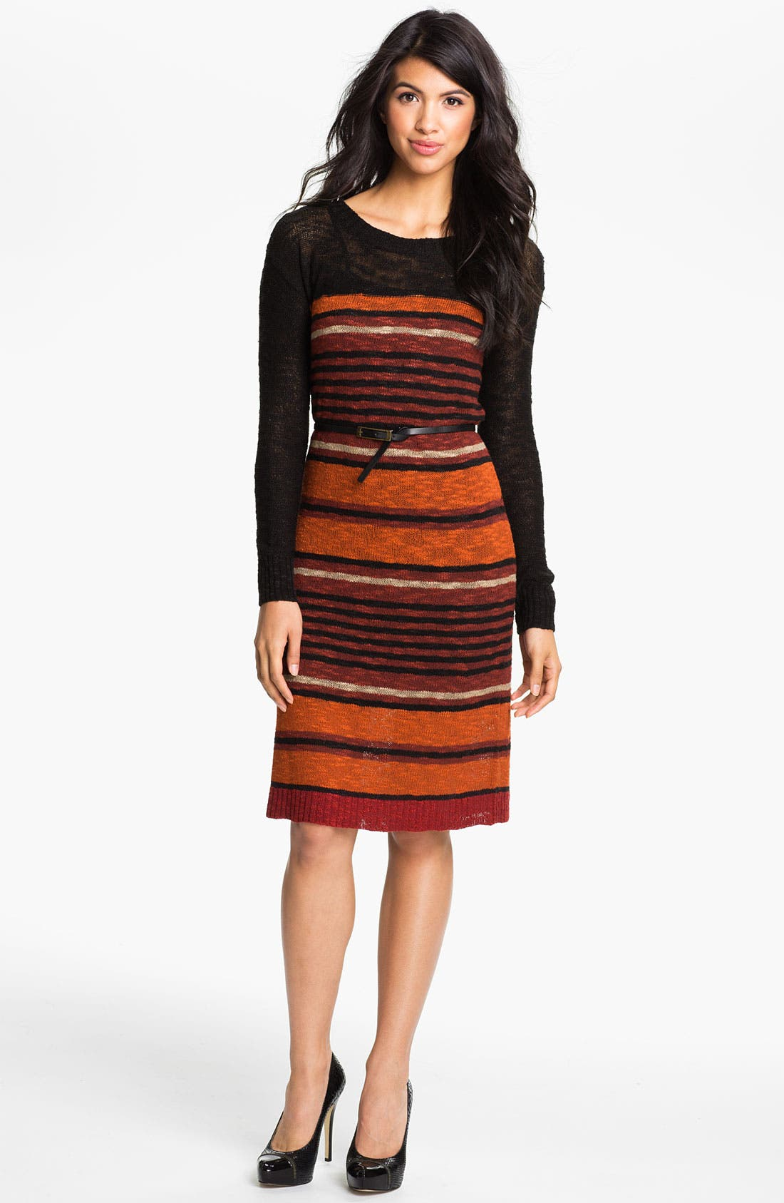 Alternate Image 1 Selected - Kensie Belted Sweater Dress (Online Exclusive)