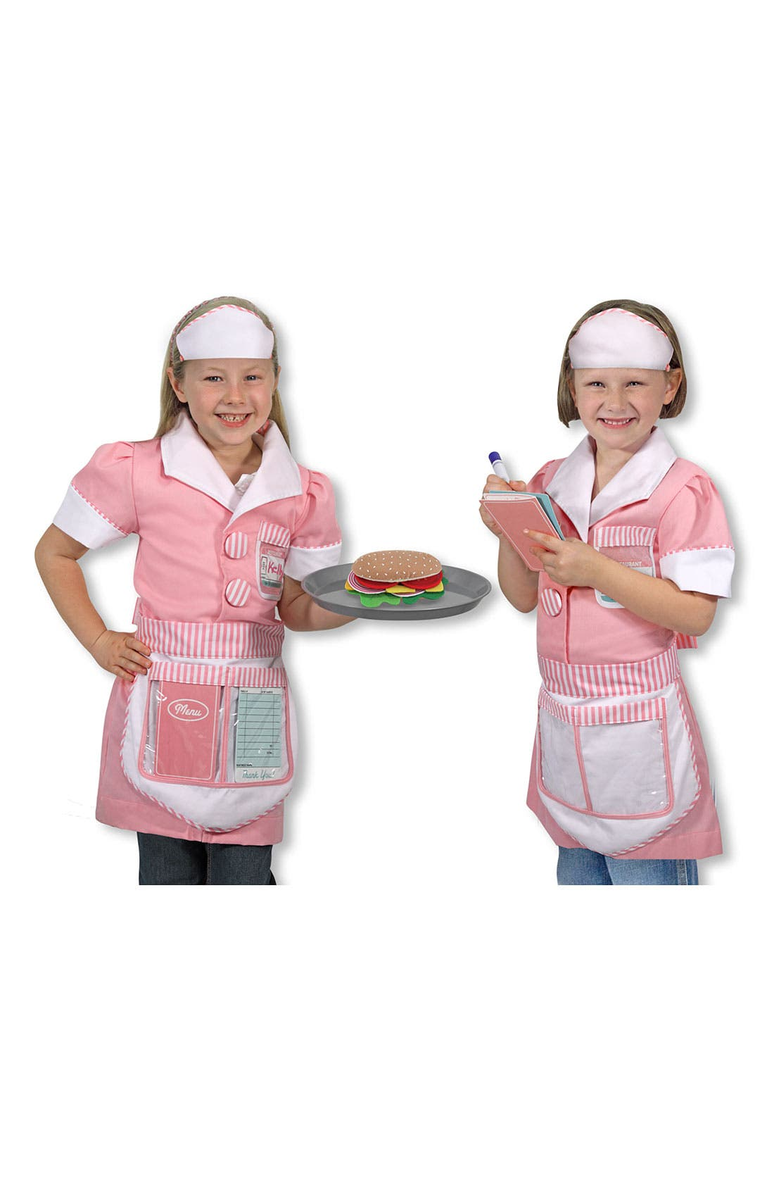 Main Image - Melissa & Doug 'Waitress' Costume (Little Girls)