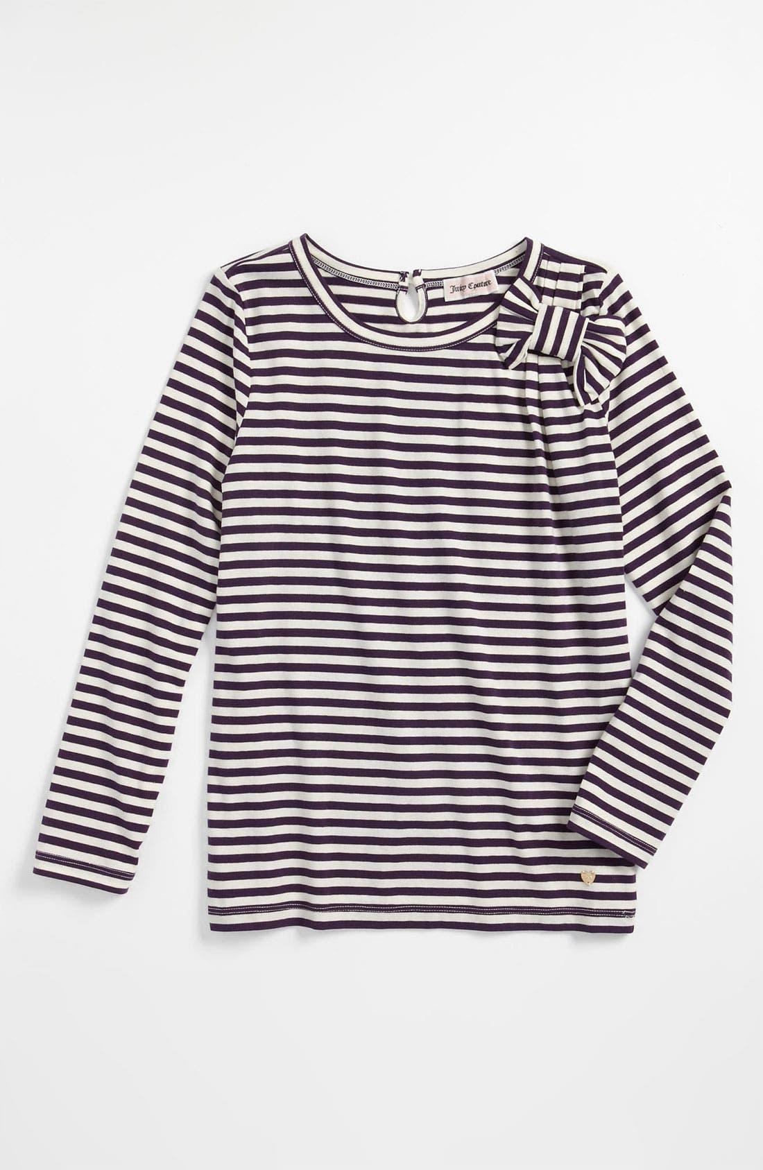 Main Image - Juicy Couture Stripe Tee (Little Girls & Big Girls)