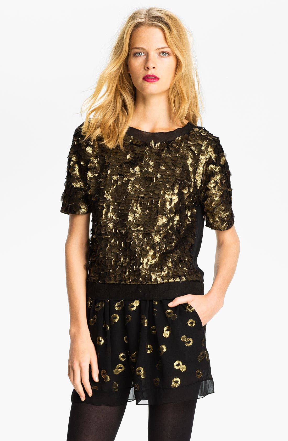 Alternate Image 1 Selected - Diane von Furstenberg 'Namrata' Silk Blouse