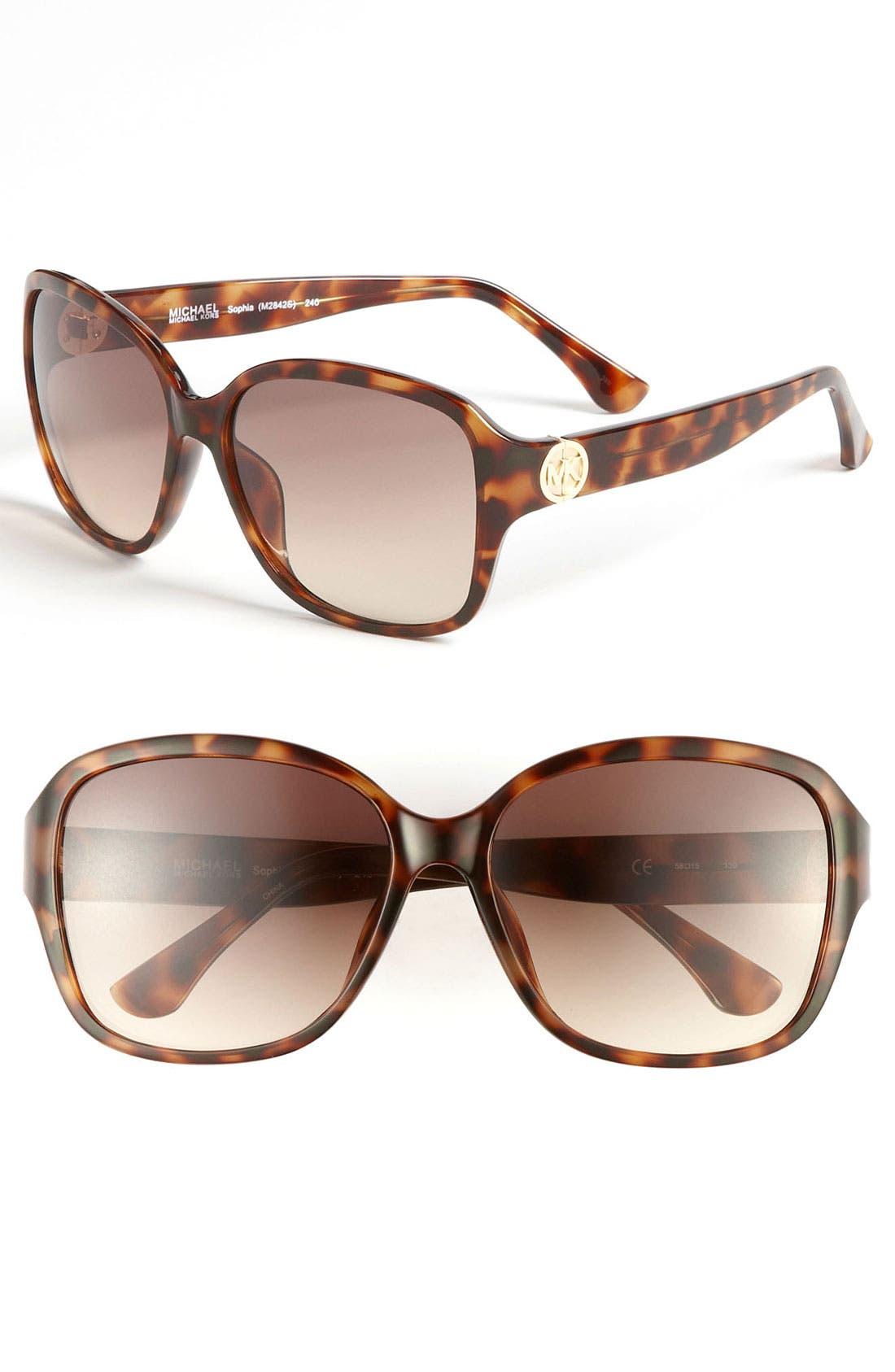 Main Image - MICHAEL Michael Kors 'Sophia' 58mm Sunglasses