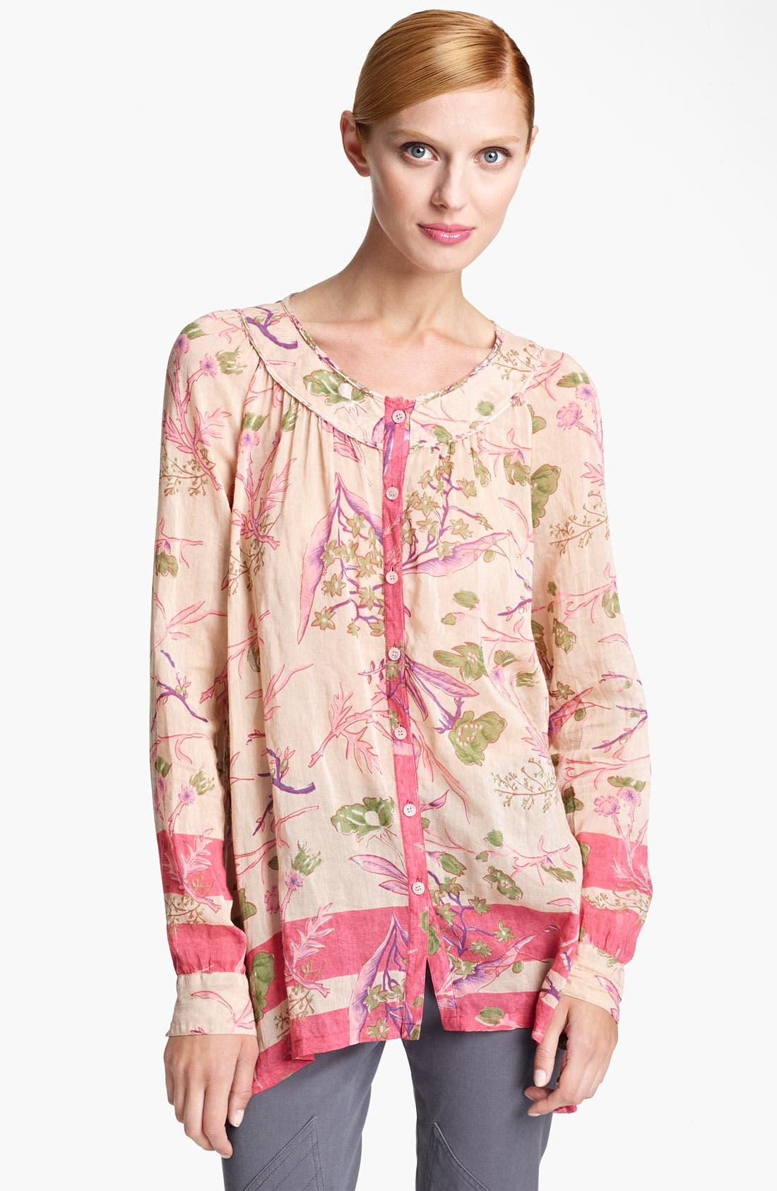Alternate Image 1 Selected - Donna Karan Collection Floral Print Blouse