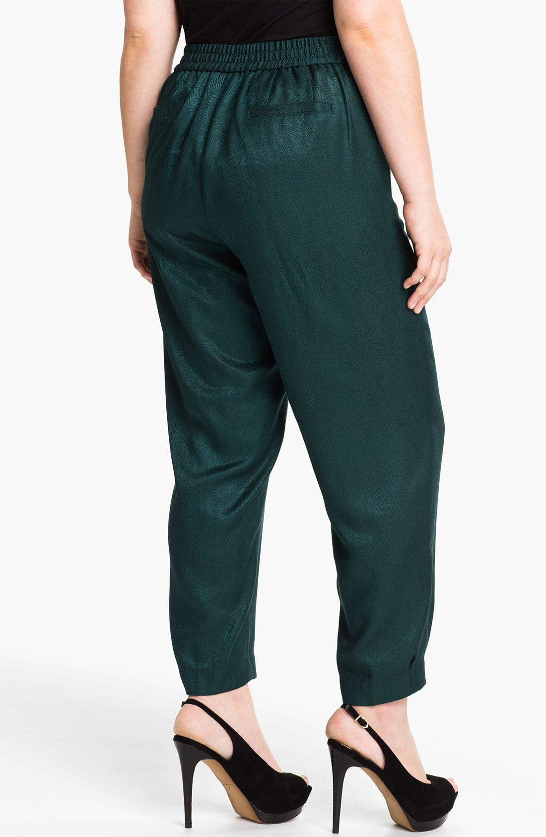 Alternate Image 2  - Sejour Slim Jacquard Pants (Plus)