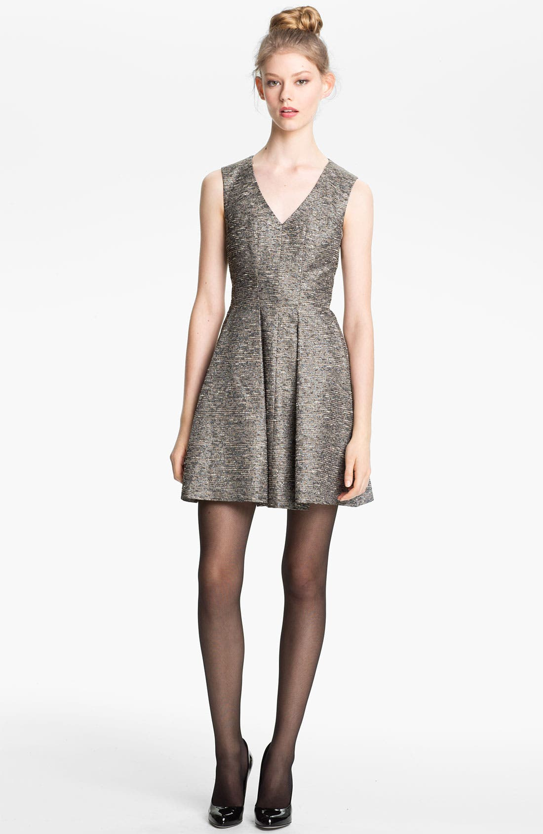 Main Image - Mcginn 'Chloe' Textured Metallic Dress