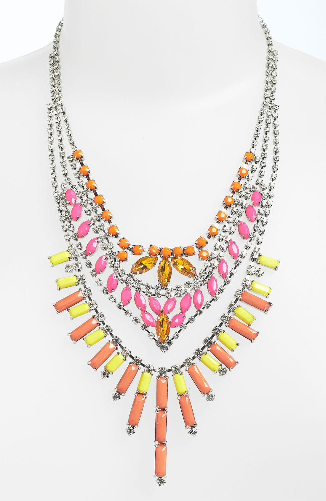 Alternate Image 1 Selected - BP. Neon Rhinestone Statement Necklace
