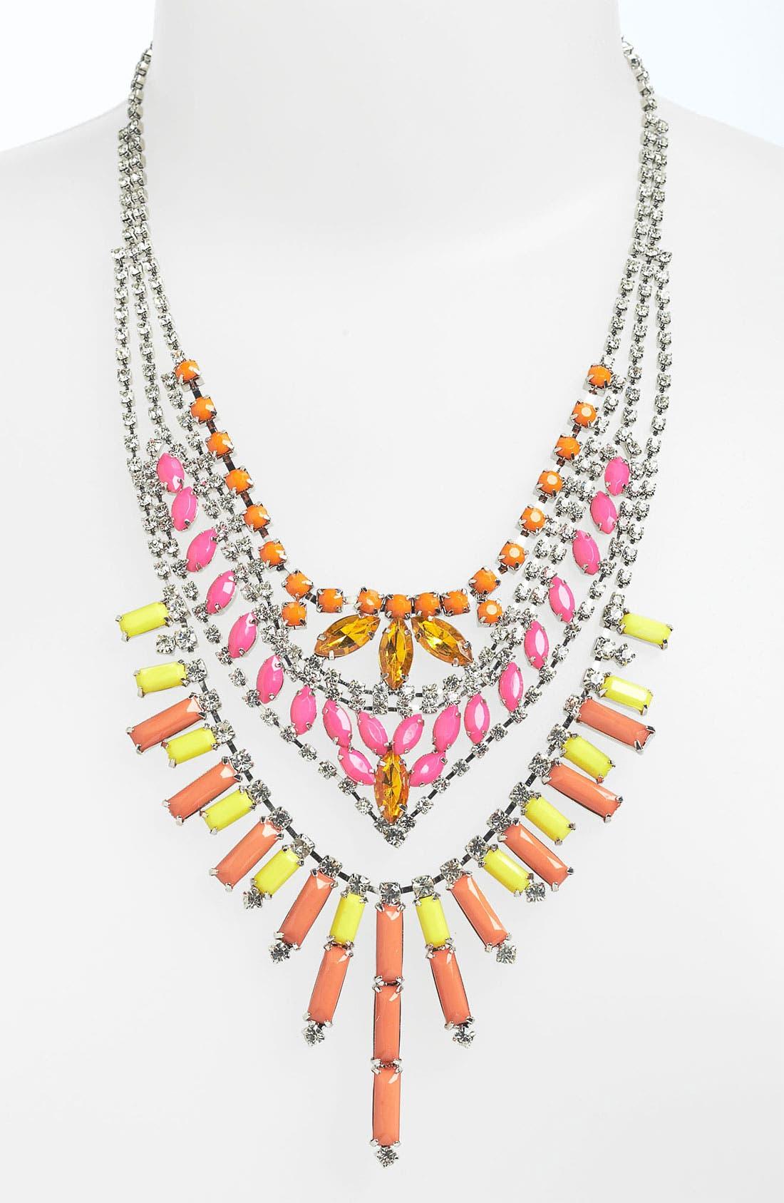 Main Image - BP. Neon Rhinestone Statement Necklace
