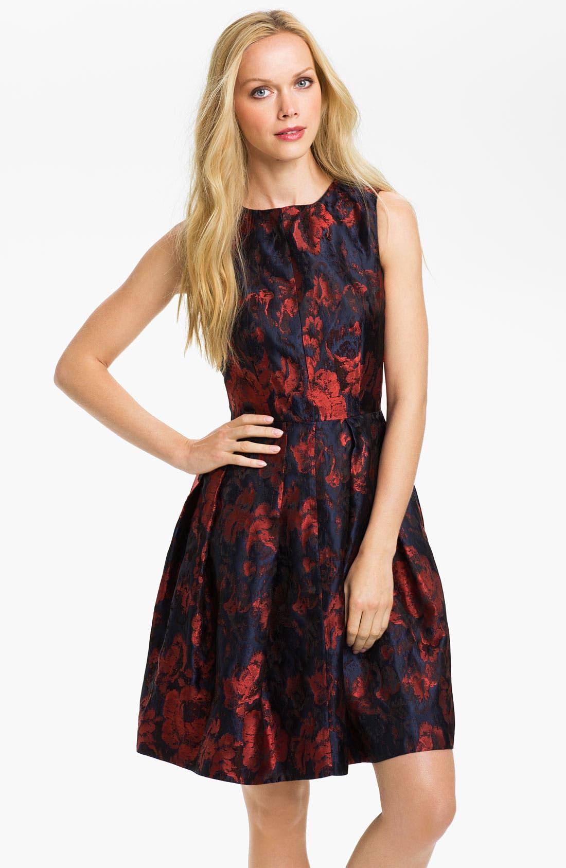 Alternate Image 1 Selected - Taylor Dresses Brocade Fit & Flare Dress