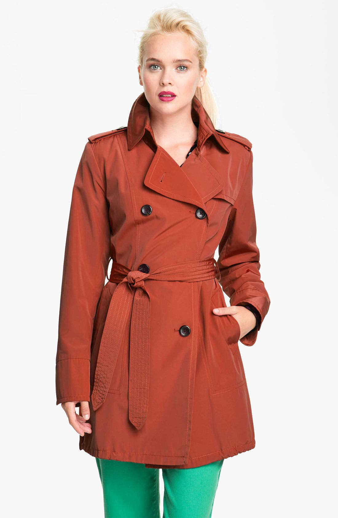 Alternate Image 1 Selected - Vince Camuto Double Breasted Raincoat