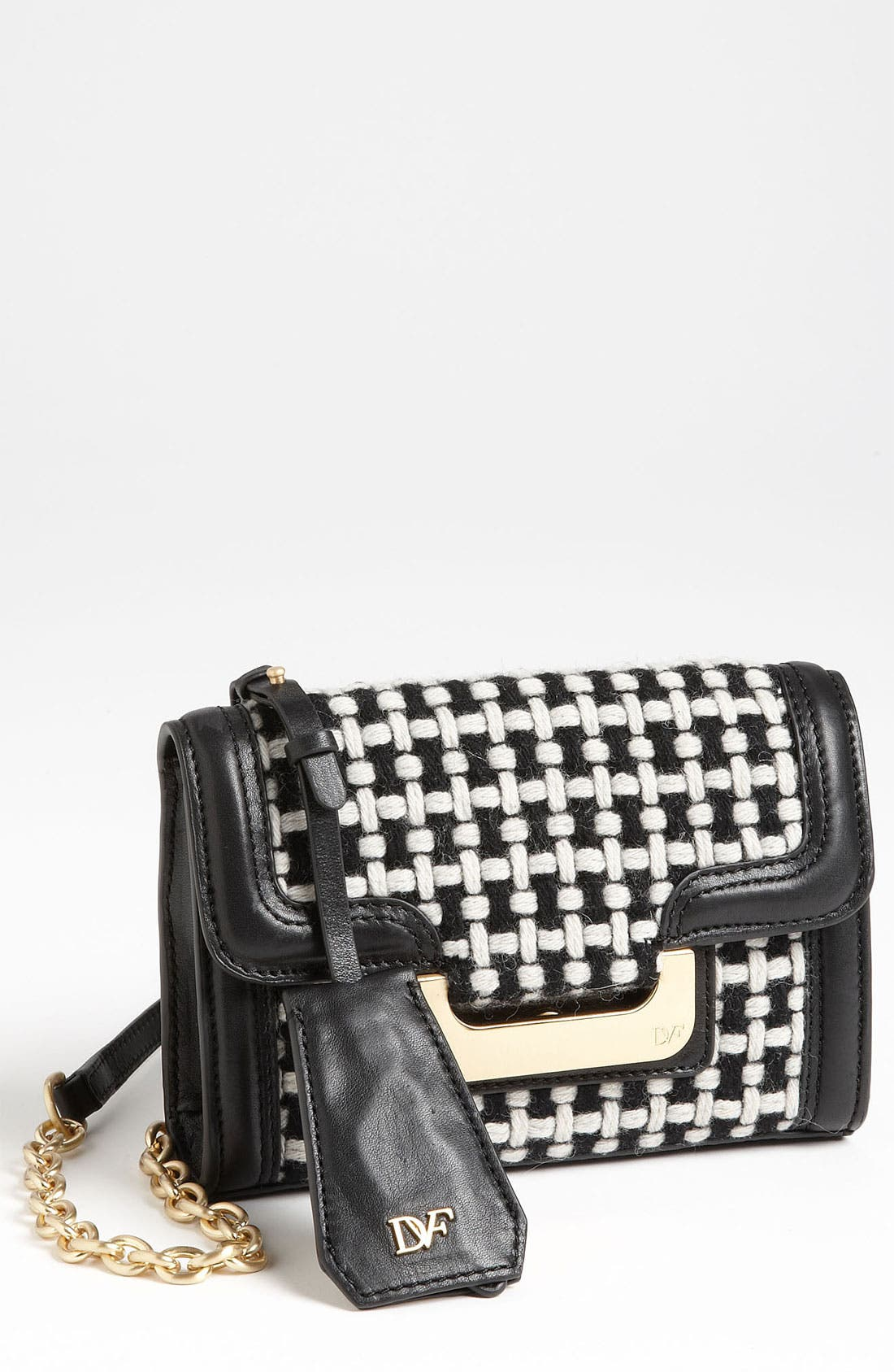 Main Image - Diane von Furstenberg 'New Harper - Charlie' Checkered Wool Crossbody Bag