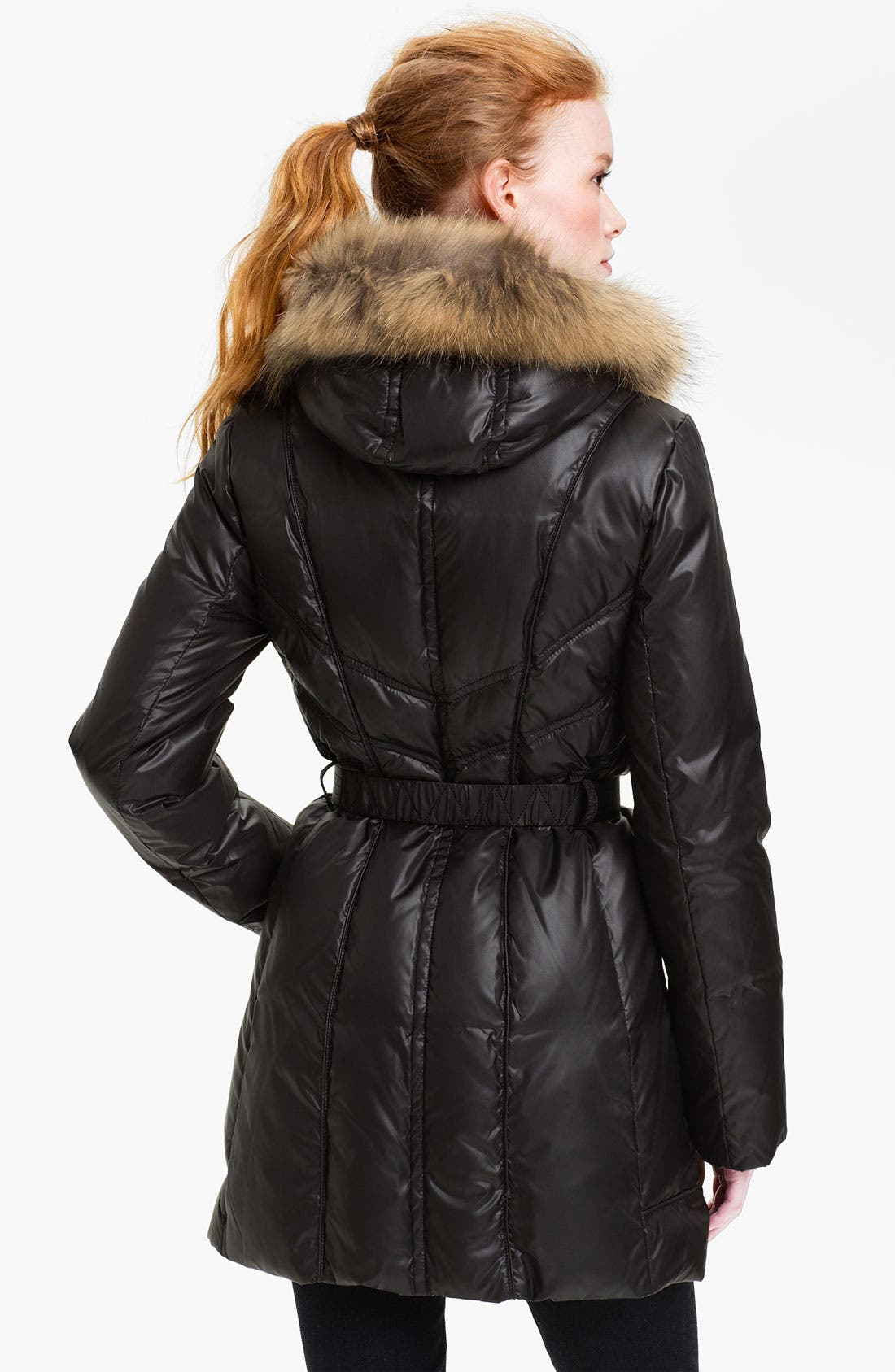Alternate Image 2  - Andrew Marc Down Coat with Genuine Coyote Fur