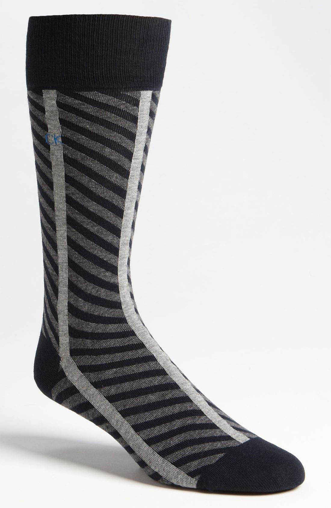 Alternate Image 1 Selected - Calvin Klein Patterned Socks