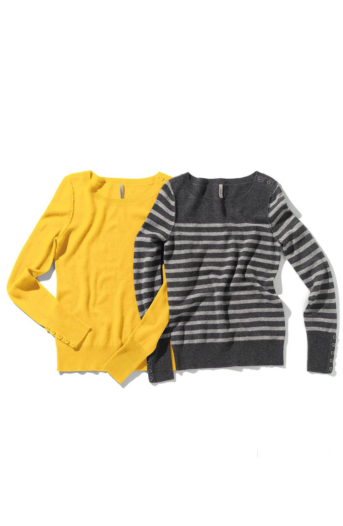 Alternate Image 2  - Caslon® Boatneck Cashmere Sweater