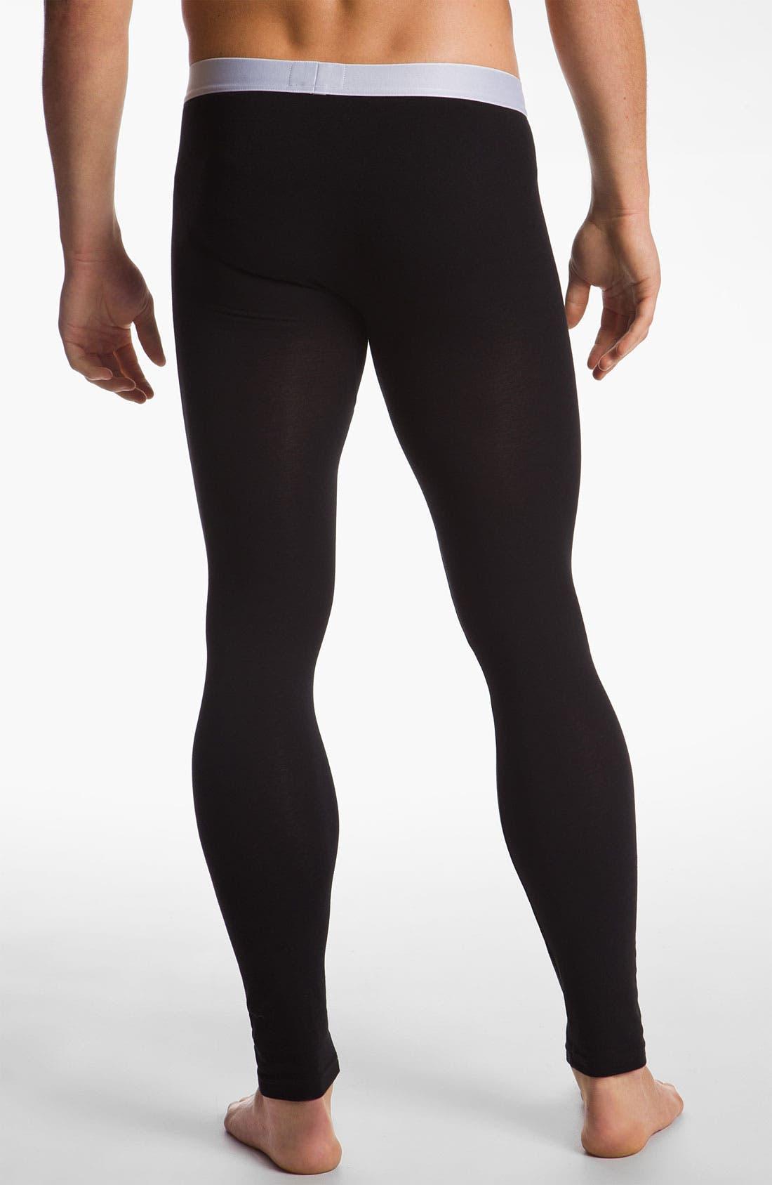 Alternate Image 2  - Emporio Armani 'Basic' Stretch Leggings