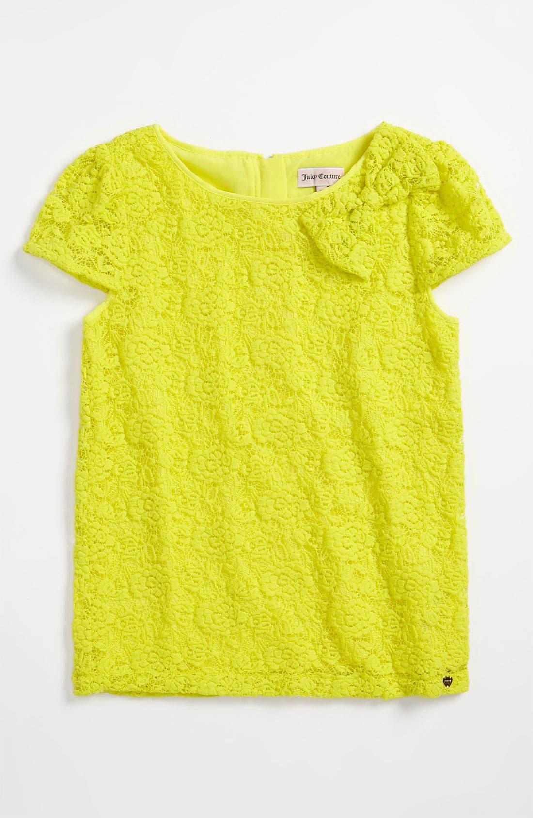 Alternate Image 1 Selected - Juicy Couture Lace Top (Little Girls & Big Girls)