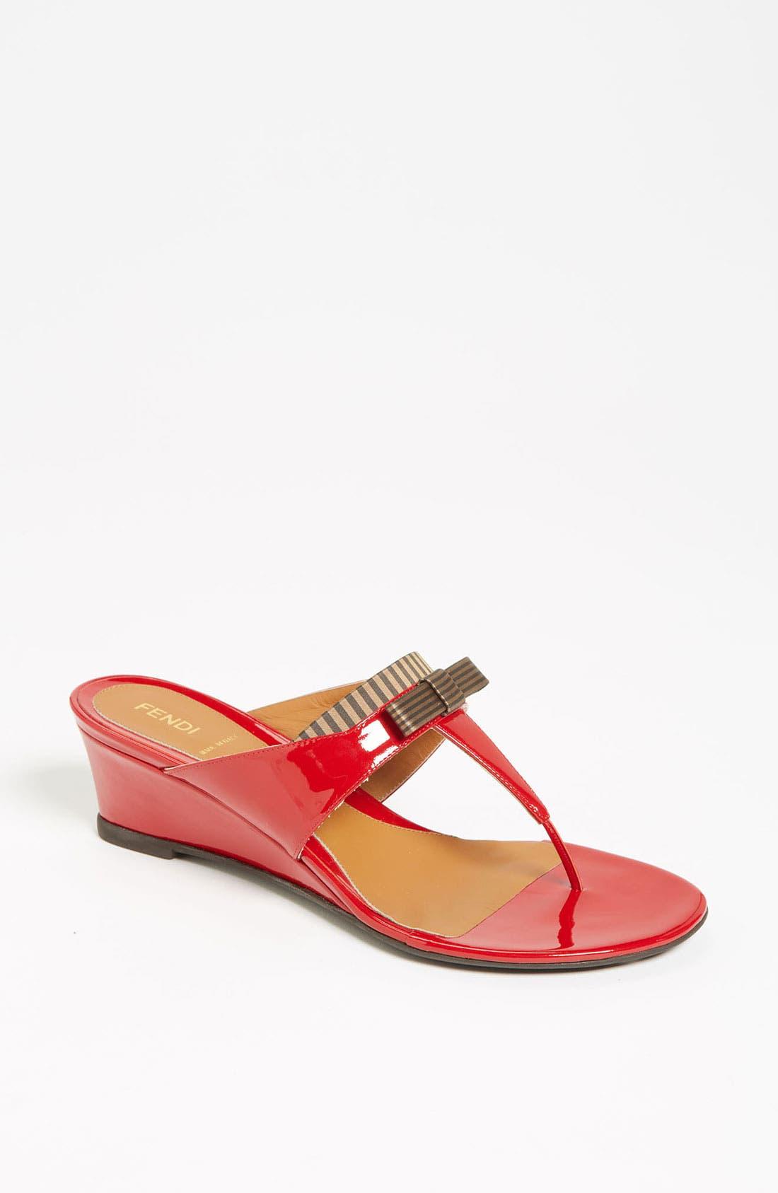 Alternate Image 1 Selected - Fendi 'Charleston' Thong Sandal