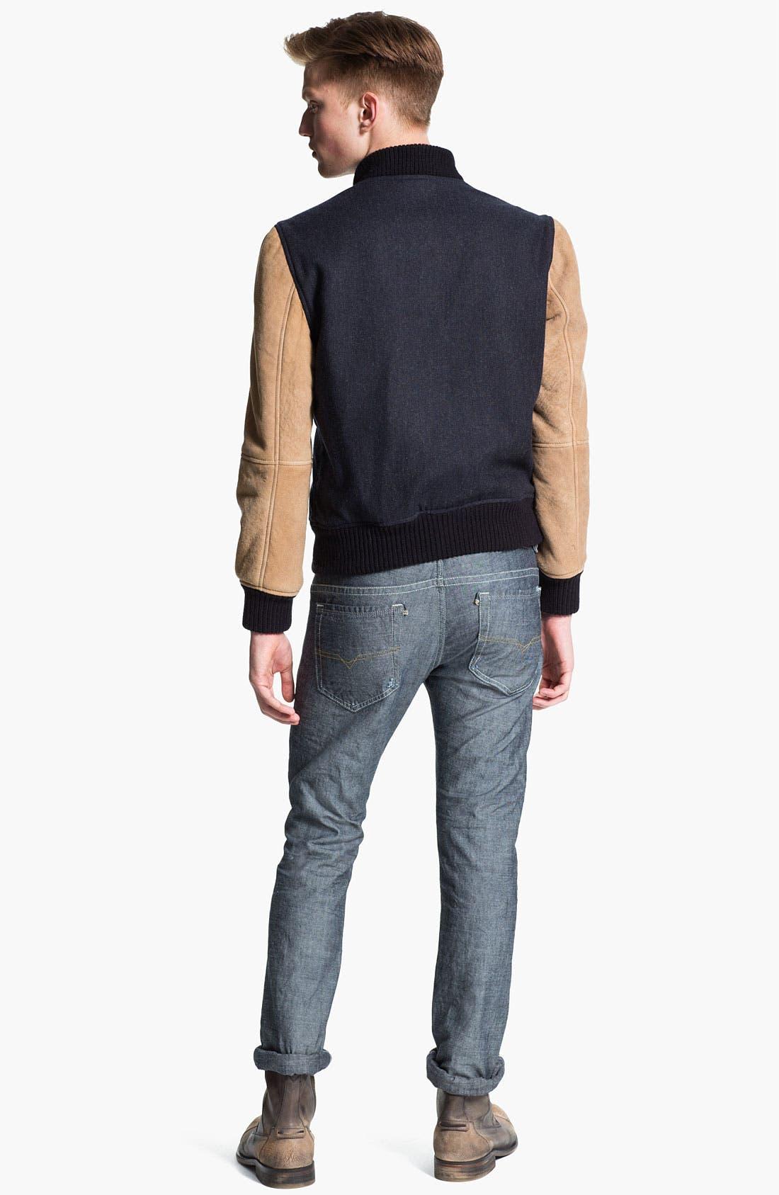 Alternate Image 6  - DIESEL® 'Thavar' Slim Straight Leg Jeans (0809D) (Online Exclusive)