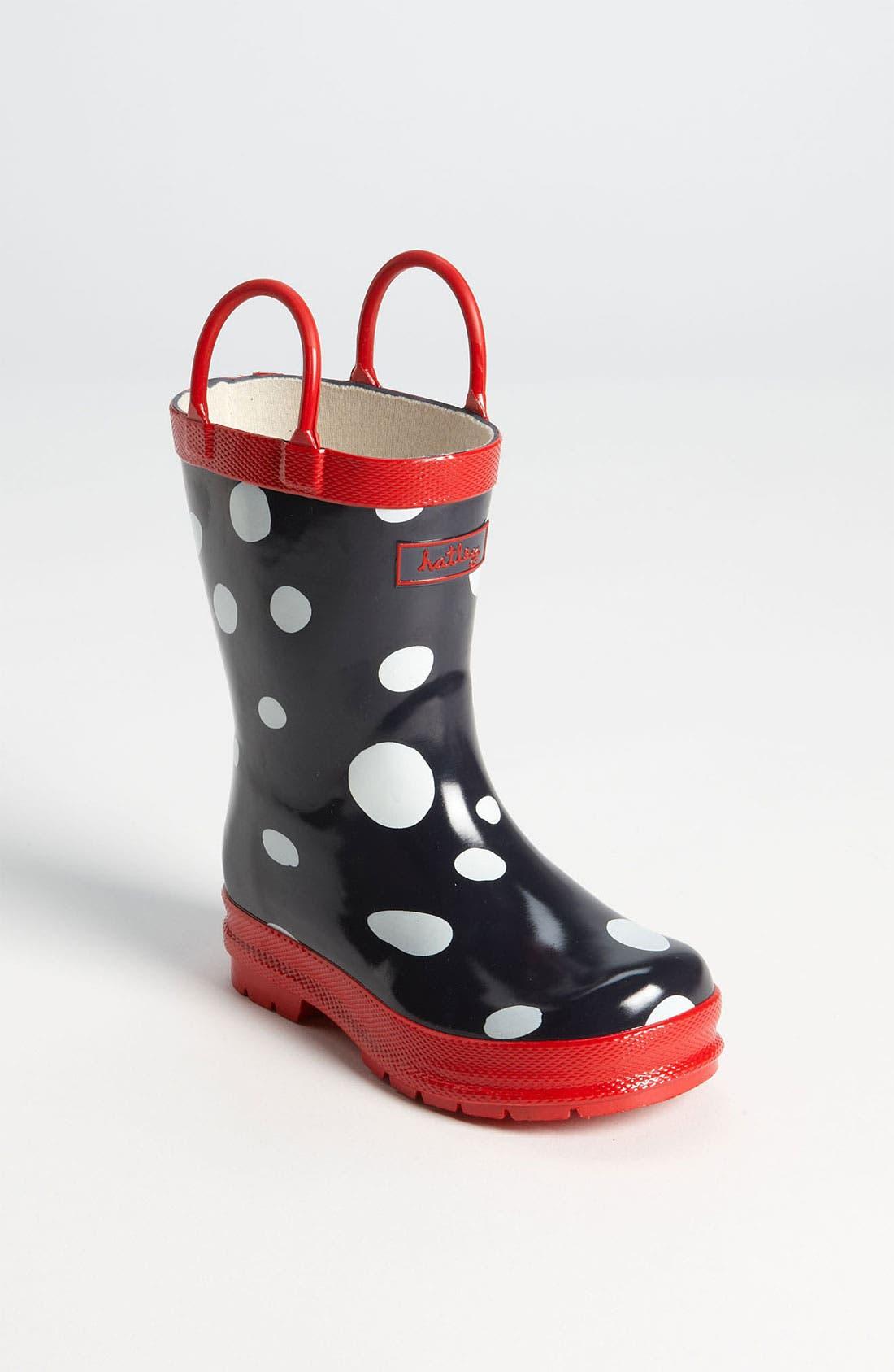 Alternate Image 1 Selected - Hatley 'Snow Balls' Rain Boot (Walker, Toddler & Little Kid)