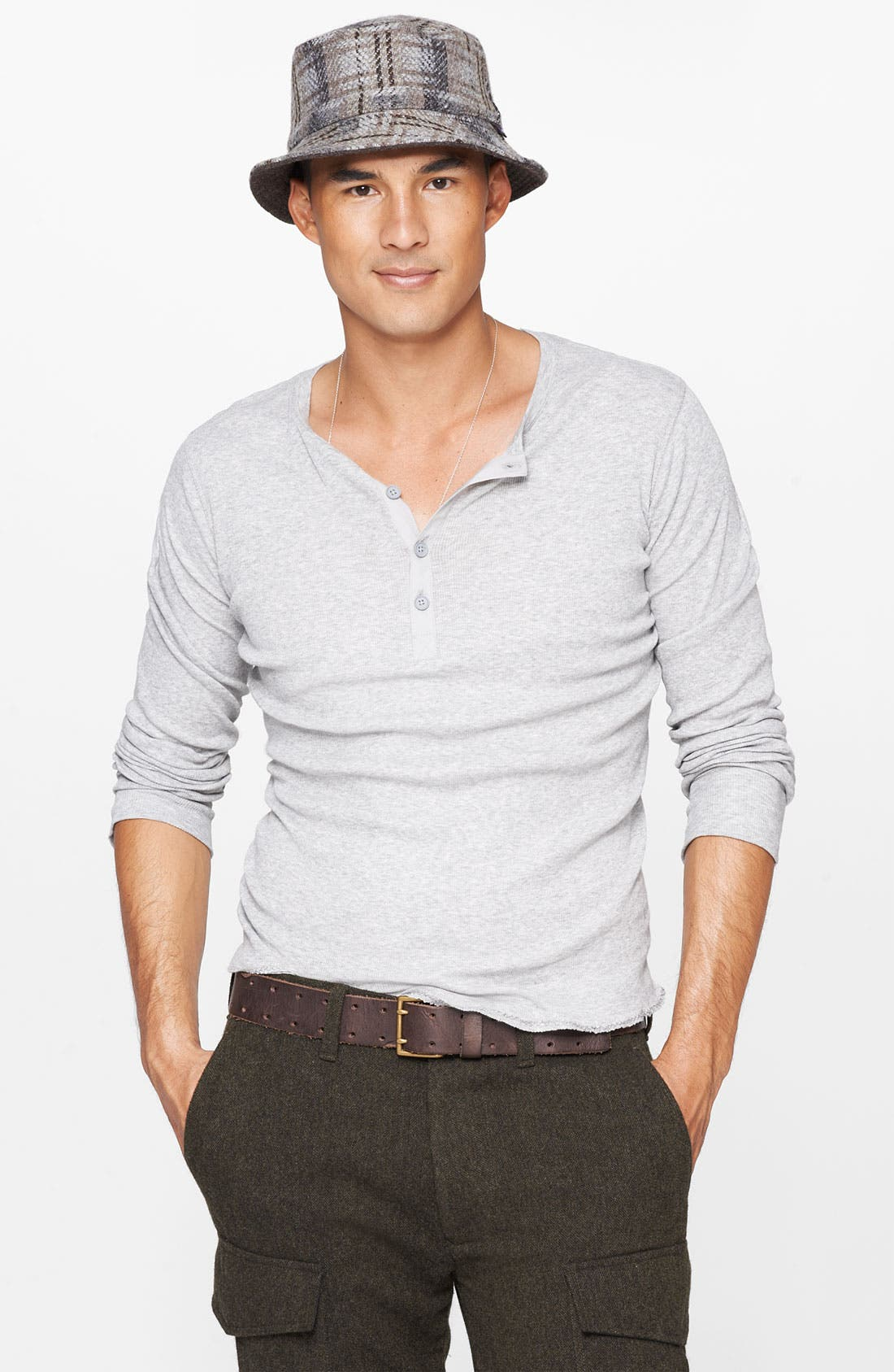 Alternate Image 1 Selected - Vince Wool & Linen Henley Sweater