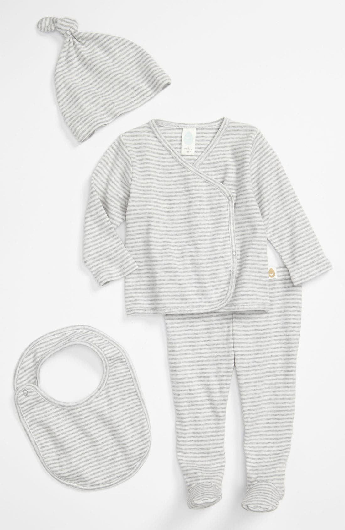Alternate Image 1 Selected - Stem Baby Organic Cotton Shirt, Pants, Hat & Bib (Baby Boys)