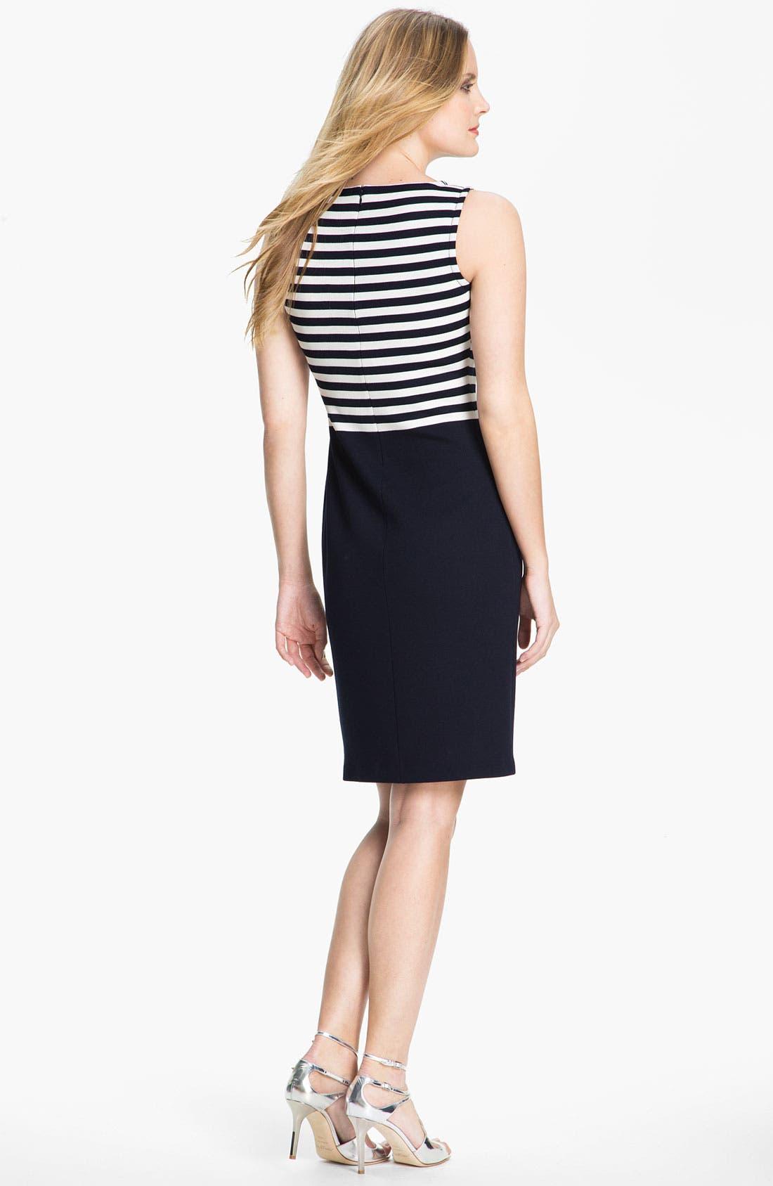 Alternate Image 2  - St. John Collection Stripe Milano Knit Dress