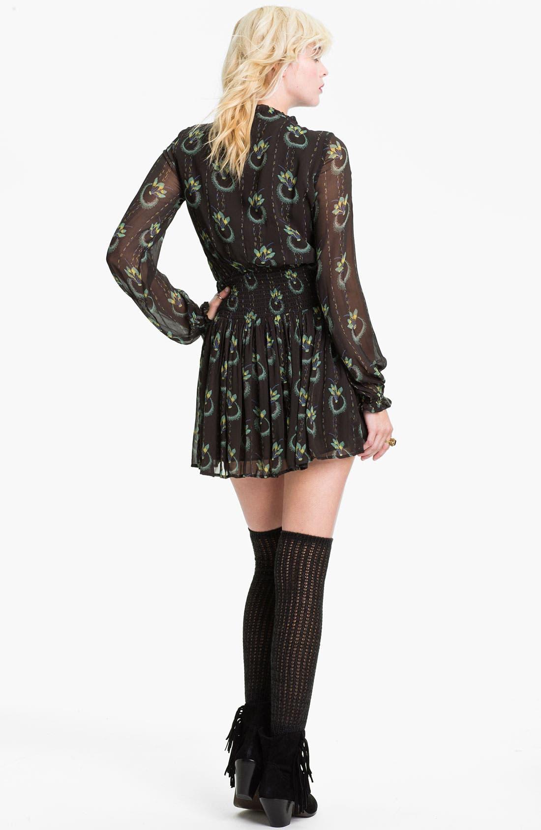 Alternate Image 2  - Free People 'Wildflower' Print Gauze Dress
