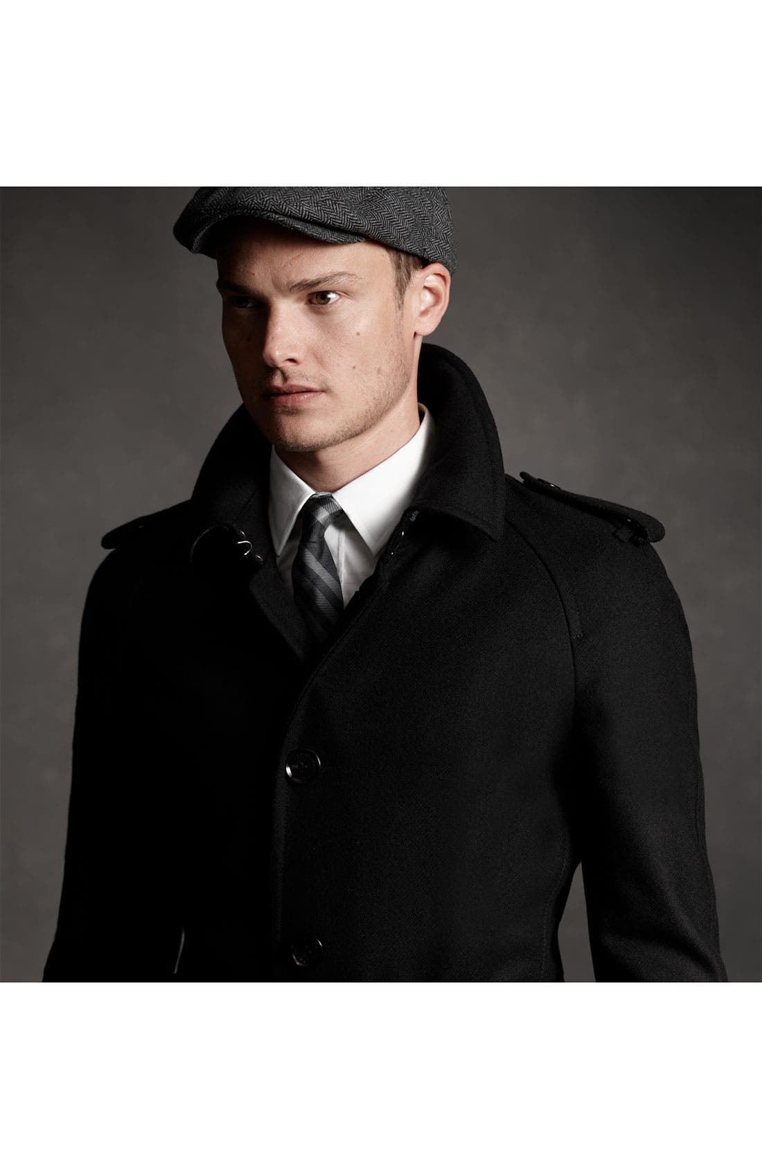 Alternate Image 5  - Burberry London Trim Fit Wool Blend Trench Coat