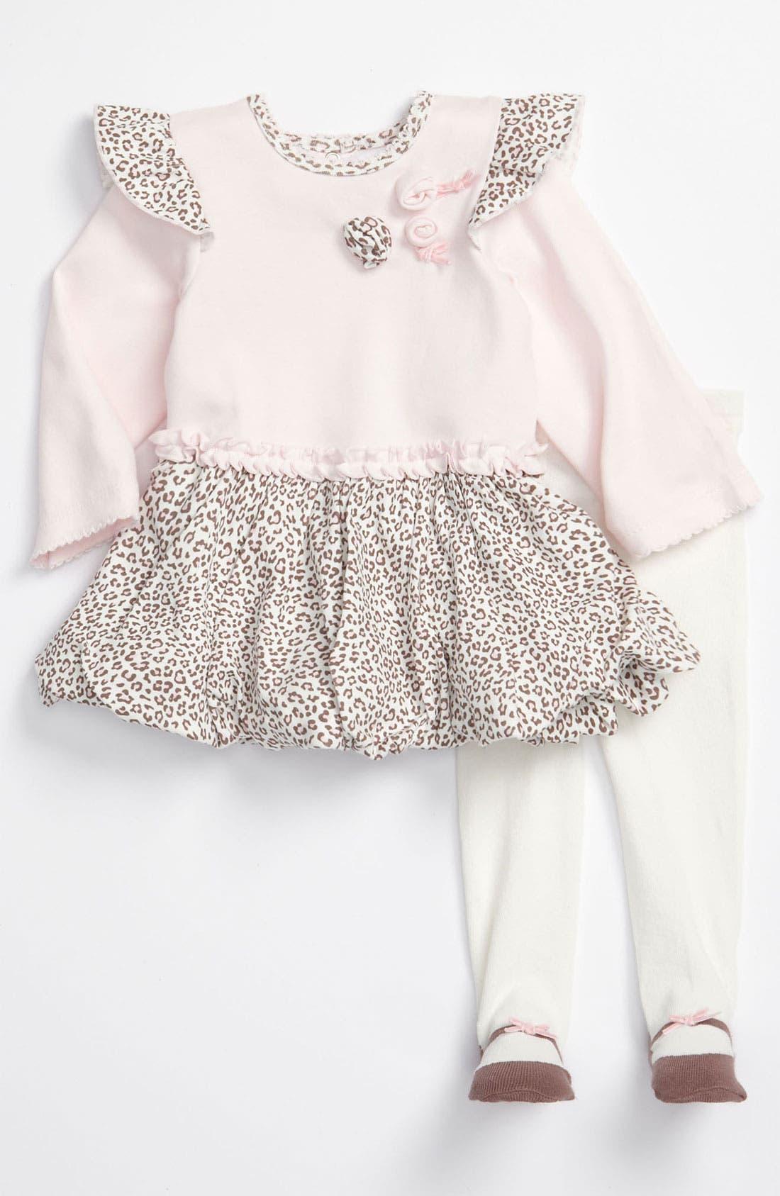 Main Image - Little Me Dress & Tights (Infant)