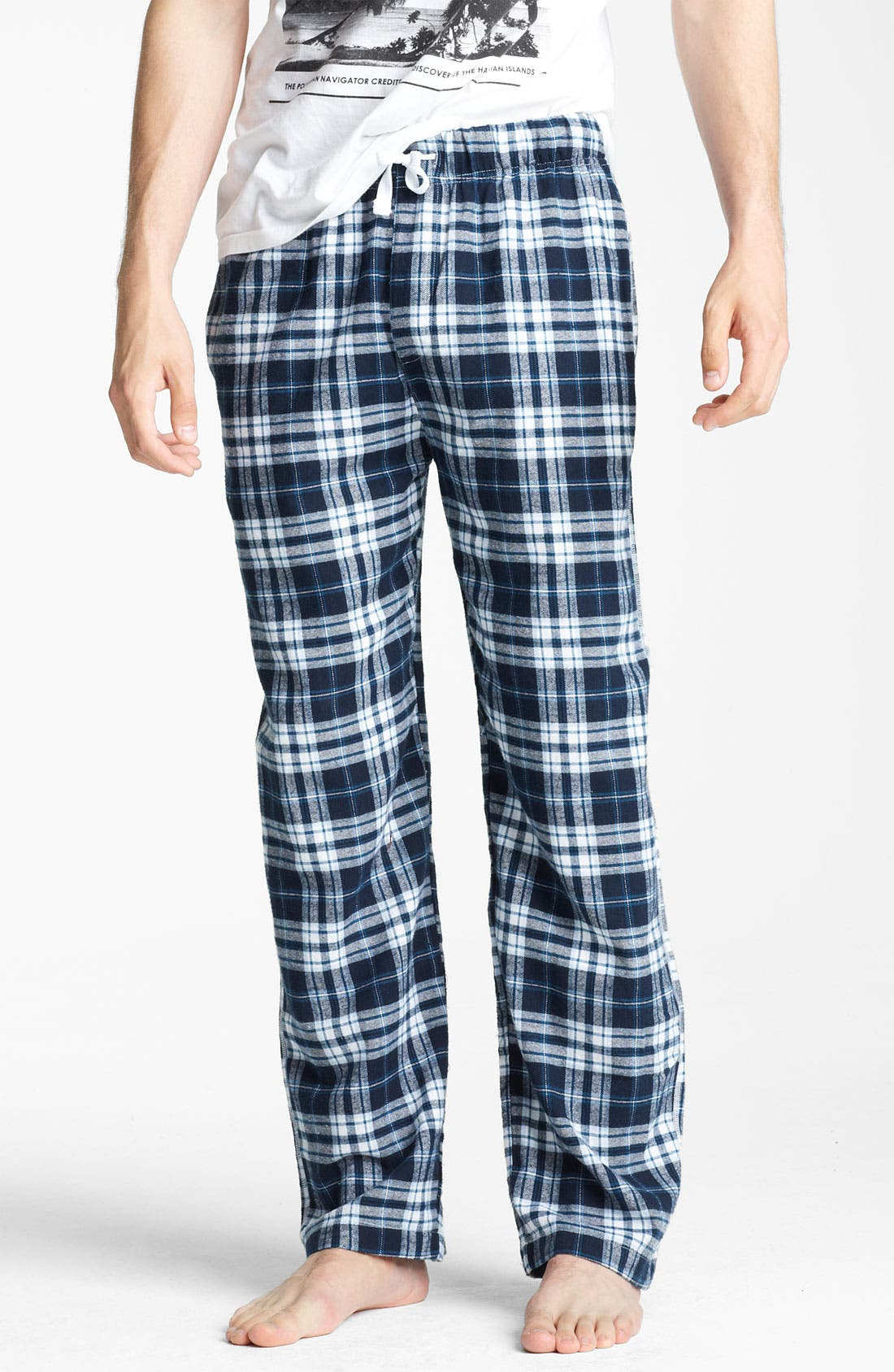 Alternate Image 1 Selected - Topman Flannel Pajama Bottoms