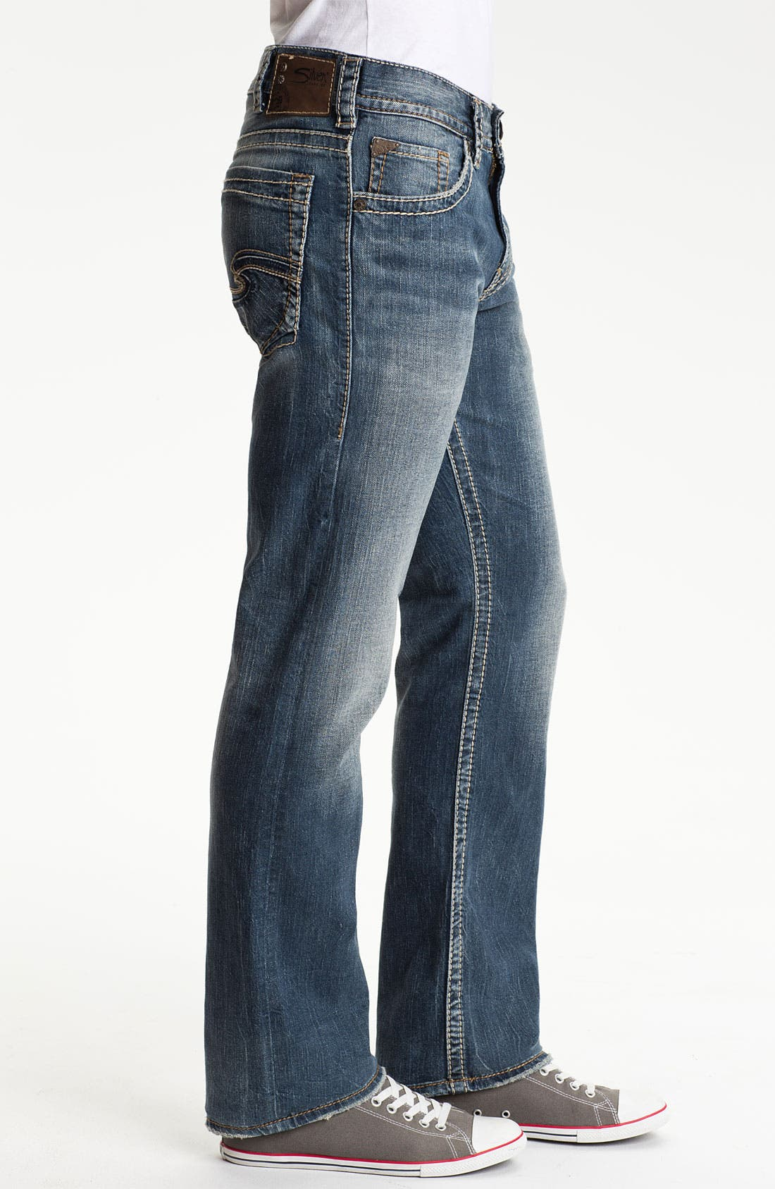 Alternate Image 3  - Silver Jeans Co. 'Zac' Straight Leg Jeans (Indigo)
