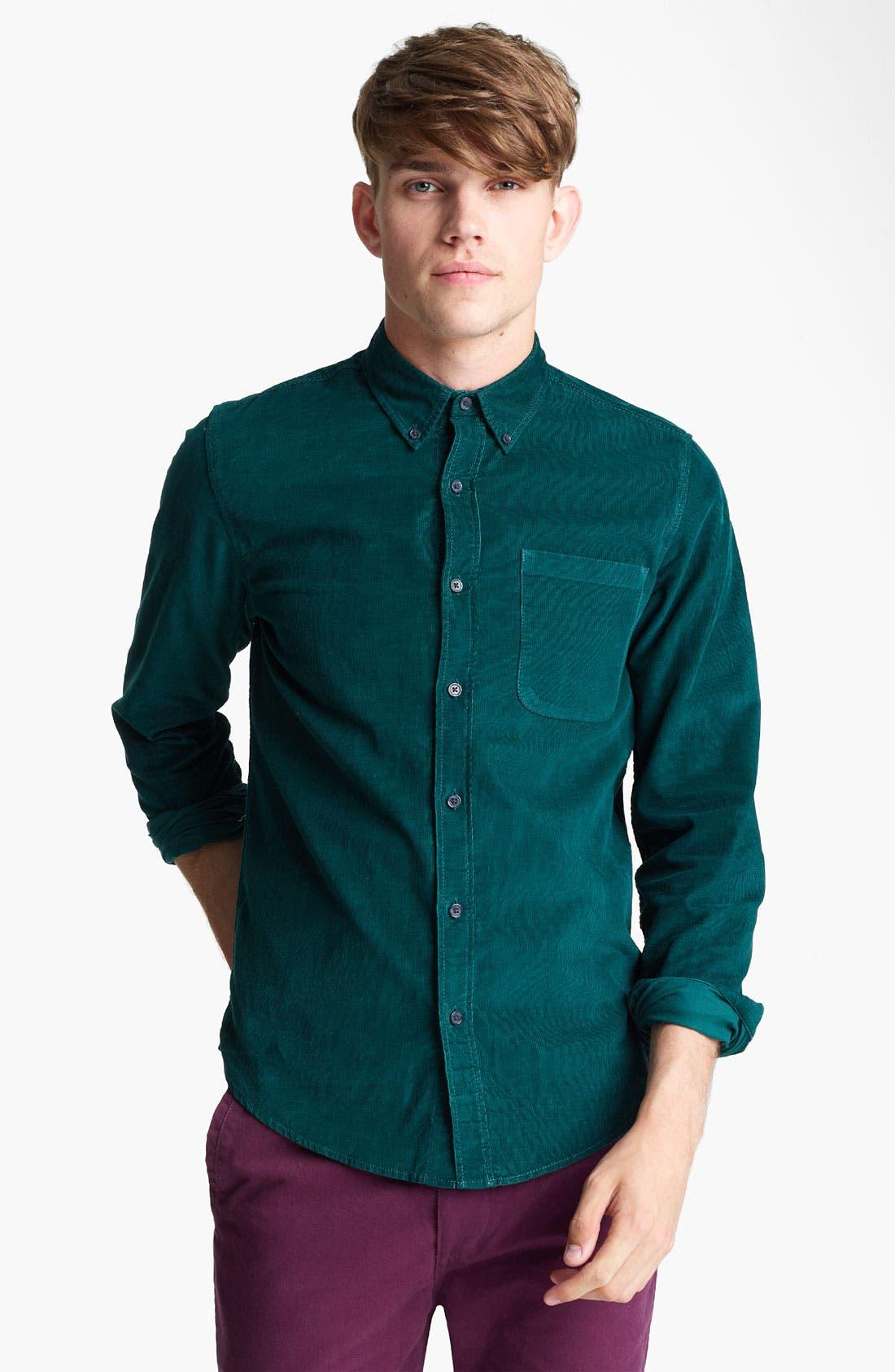 Main Image - Topman Button Down Corduroy Shirt