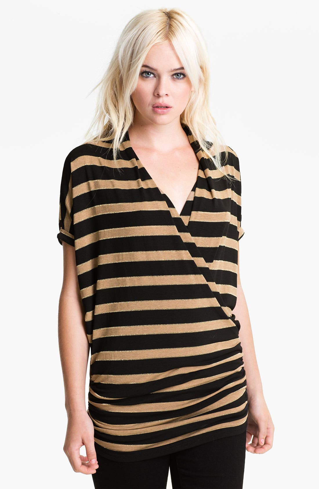 Alternate Image 1 Selected - Ella Moss 'Astoria' Stripe Slouchy Surplice Top