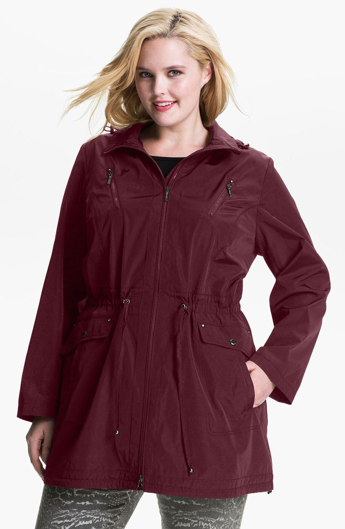 Main Image - Laundry by Shelli Segal Packable Anorak (Plus)