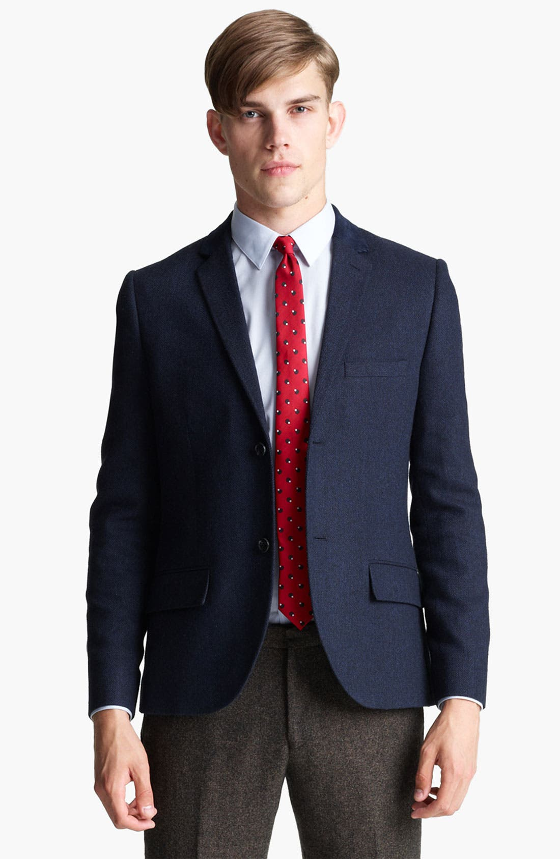 Alternate Image 1 Selected - Topman Herringbone Heritage Blazer