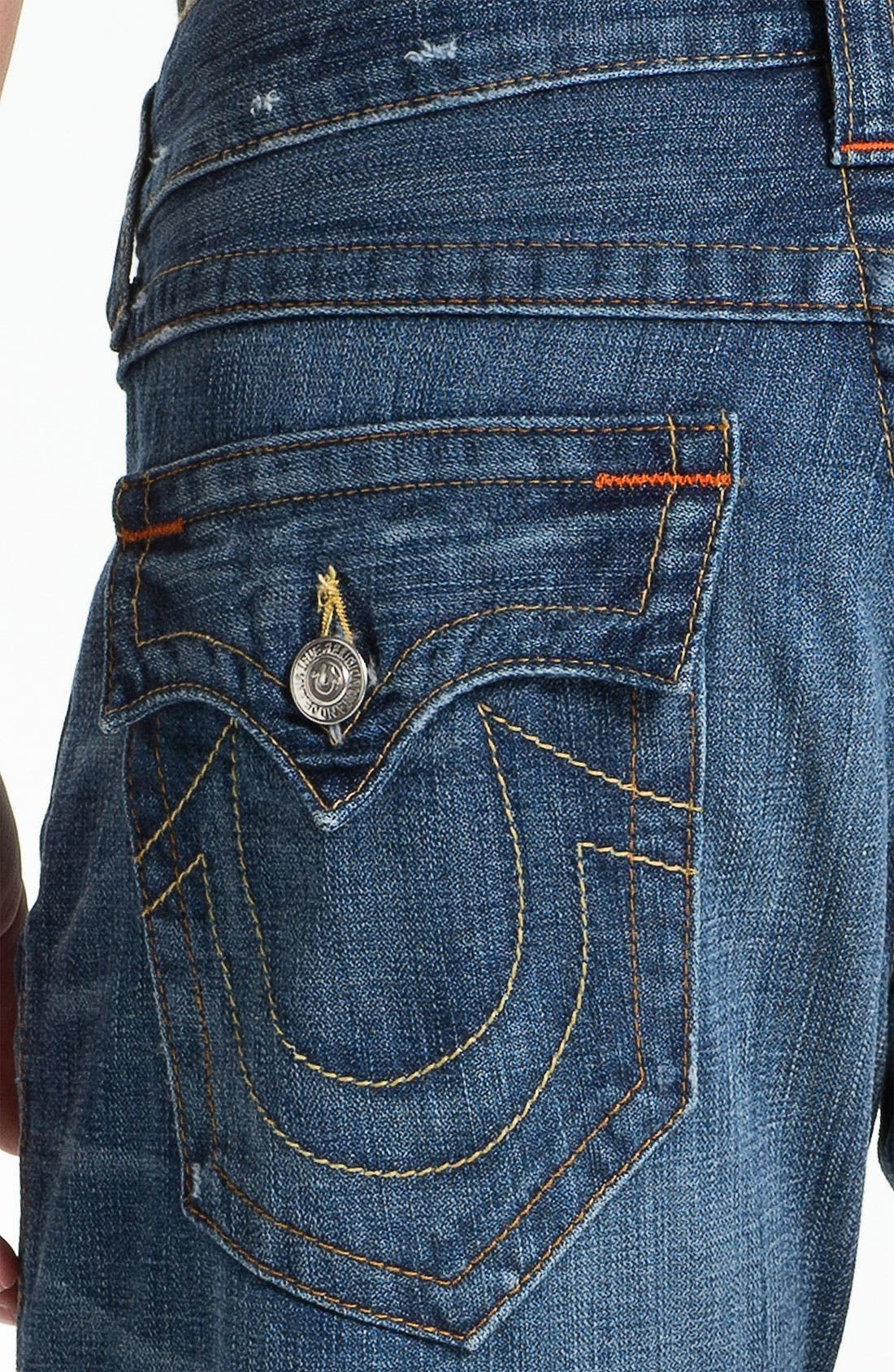 Alternate Image 4  - True Religion Brand Jeans 'Ricky' Straight Leg Jeans (Pioneer)